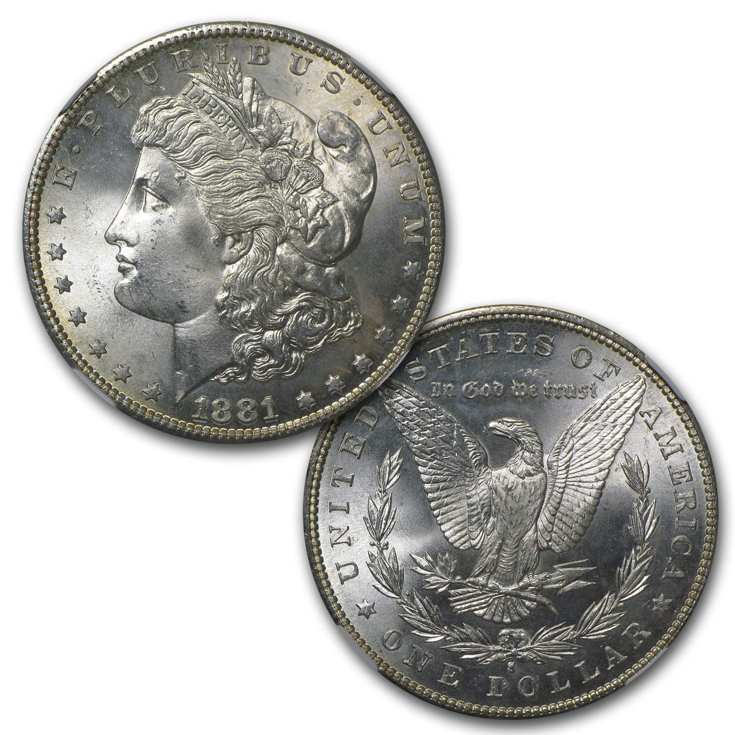 1878-1904 10-Different Morgan Dollars MS-64 NGC