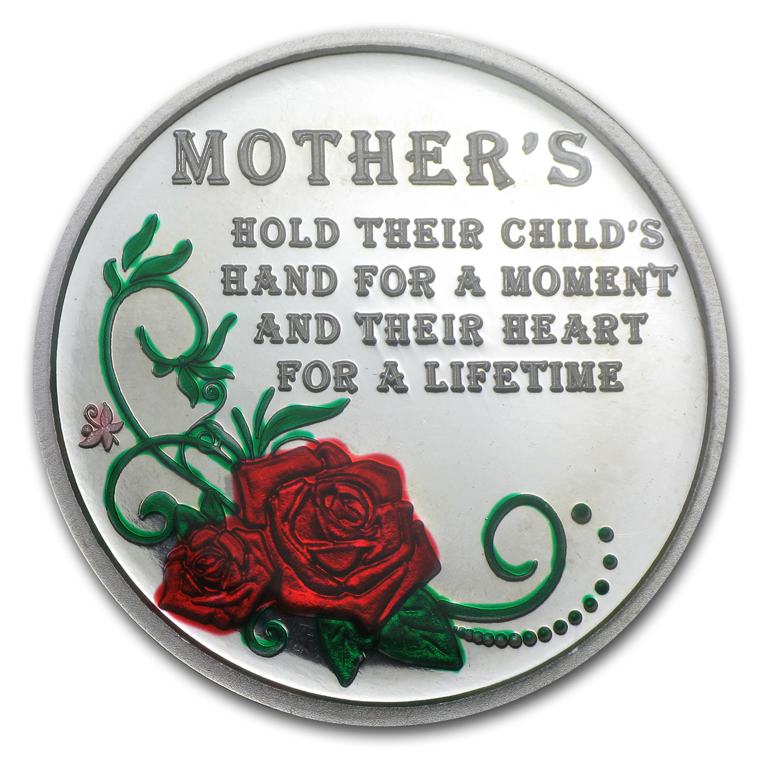 1oz Silver Round - Happy Mother's Day (Enameled,w/Box & Capsule)