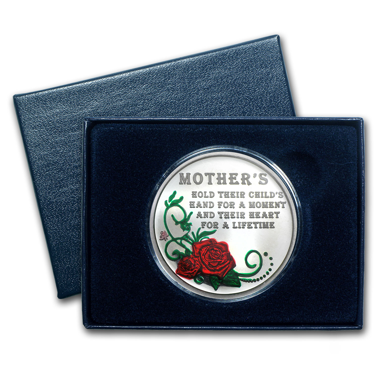 1 oz Silver Round - Happy Mother's Day (Enameled,w/Box & Capsule)
