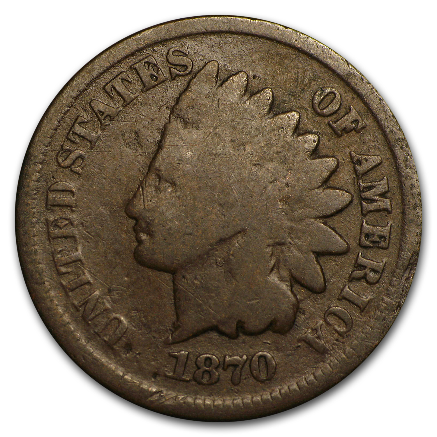 1870 Indian Head Cent Good