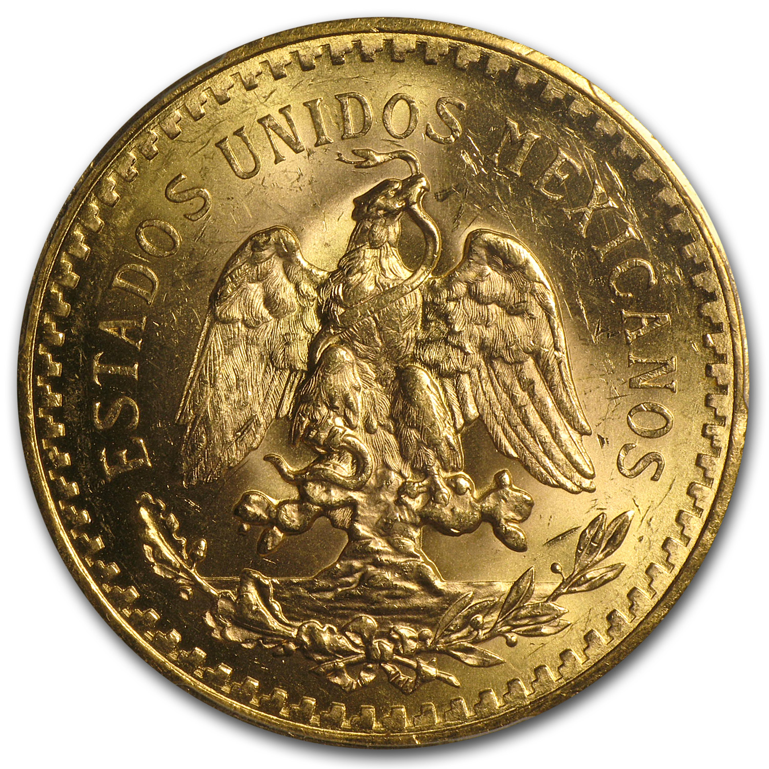 1921 Mexico Gold 50 Pesos MS-62 PCGS