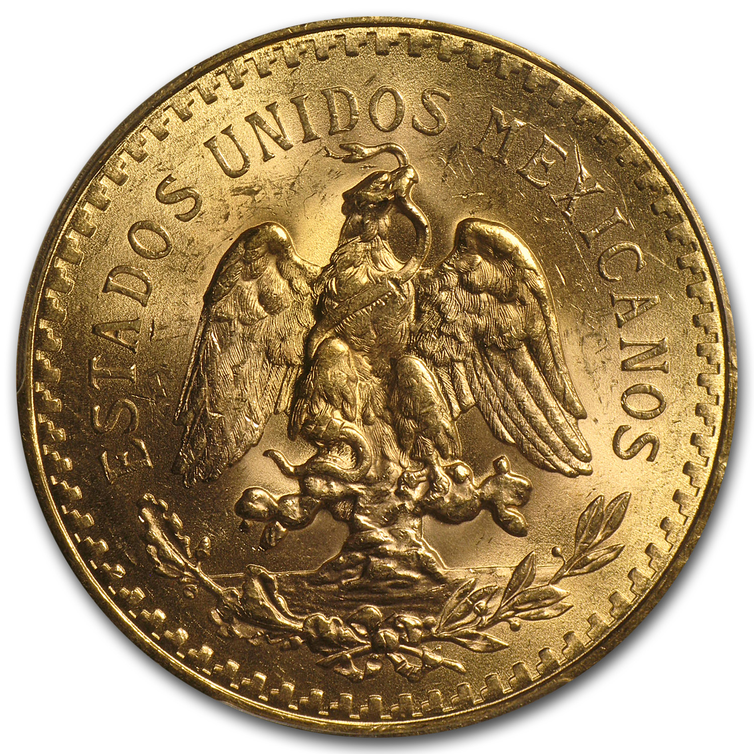 Mexico 1923 50 Pesos Gold Coin - MS-62 PCGS (Secure Plus!)