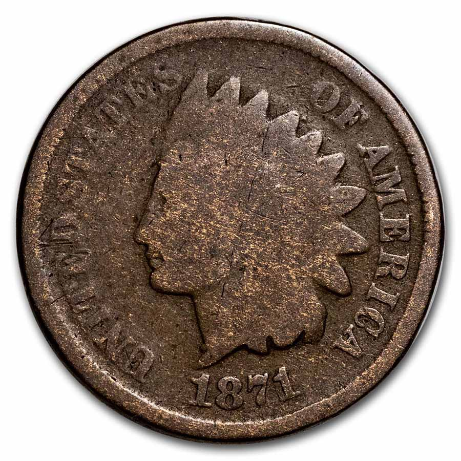1871 Indian Head Cent Good