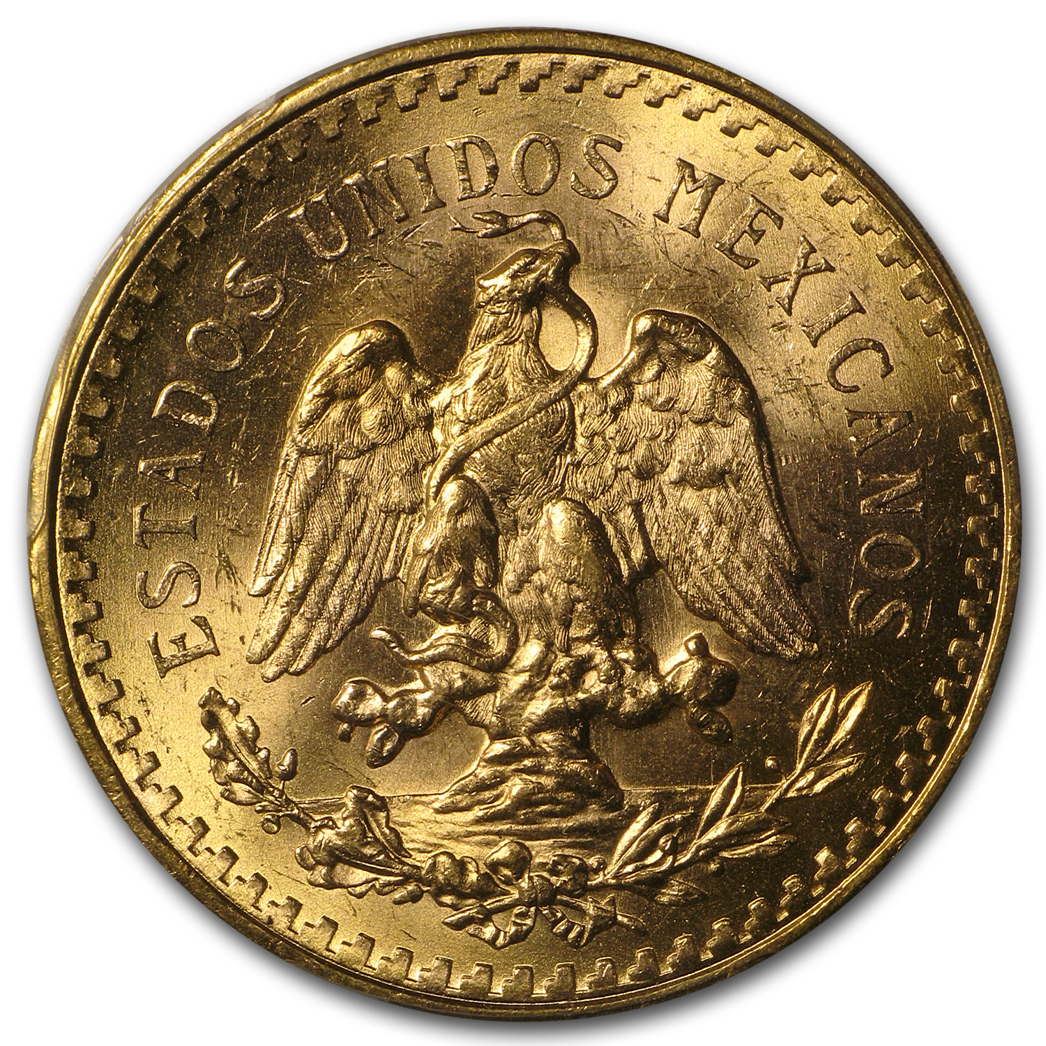 Mexico 1945 50 Pesos Gold Coin - MS-63+ PCGS (Secure Plus!)