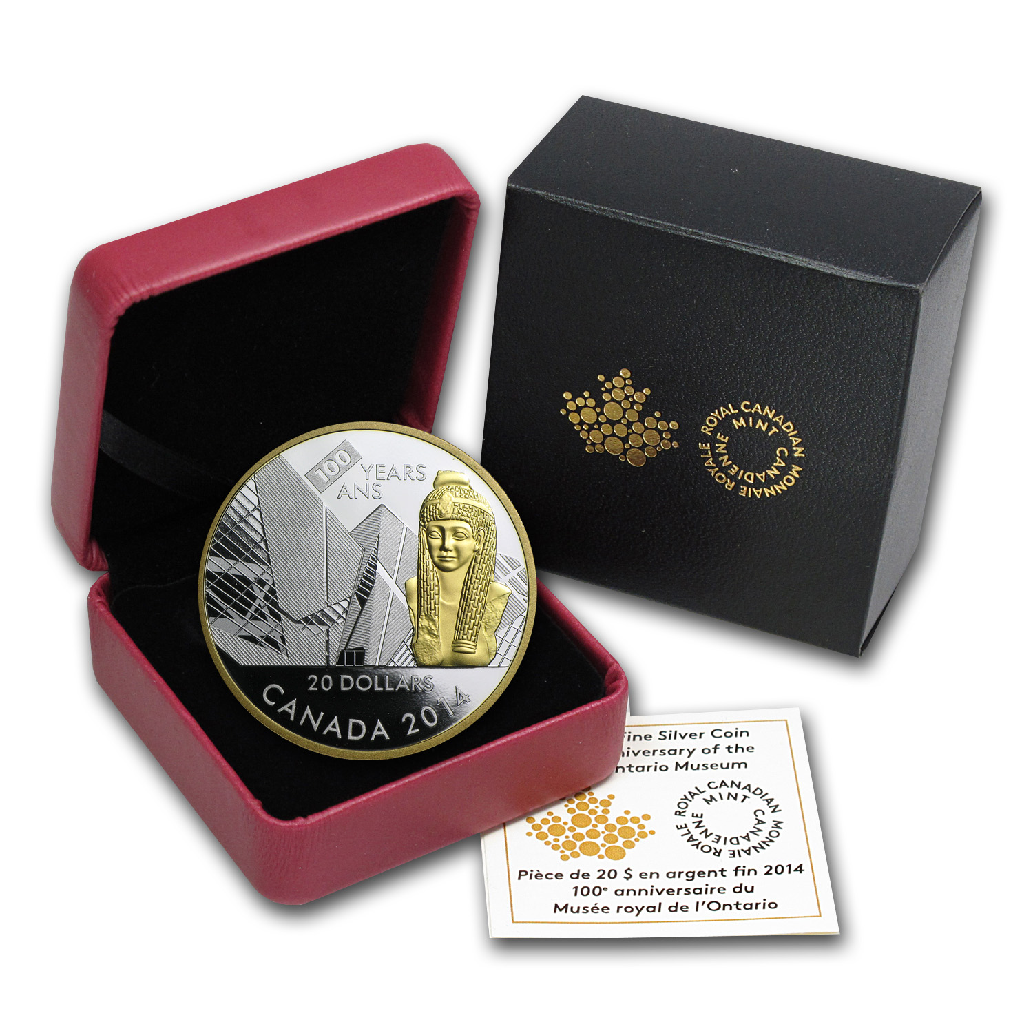 2014 Silver Canadian $20 Coin - 100th Anniv. Royal Ontario Museum