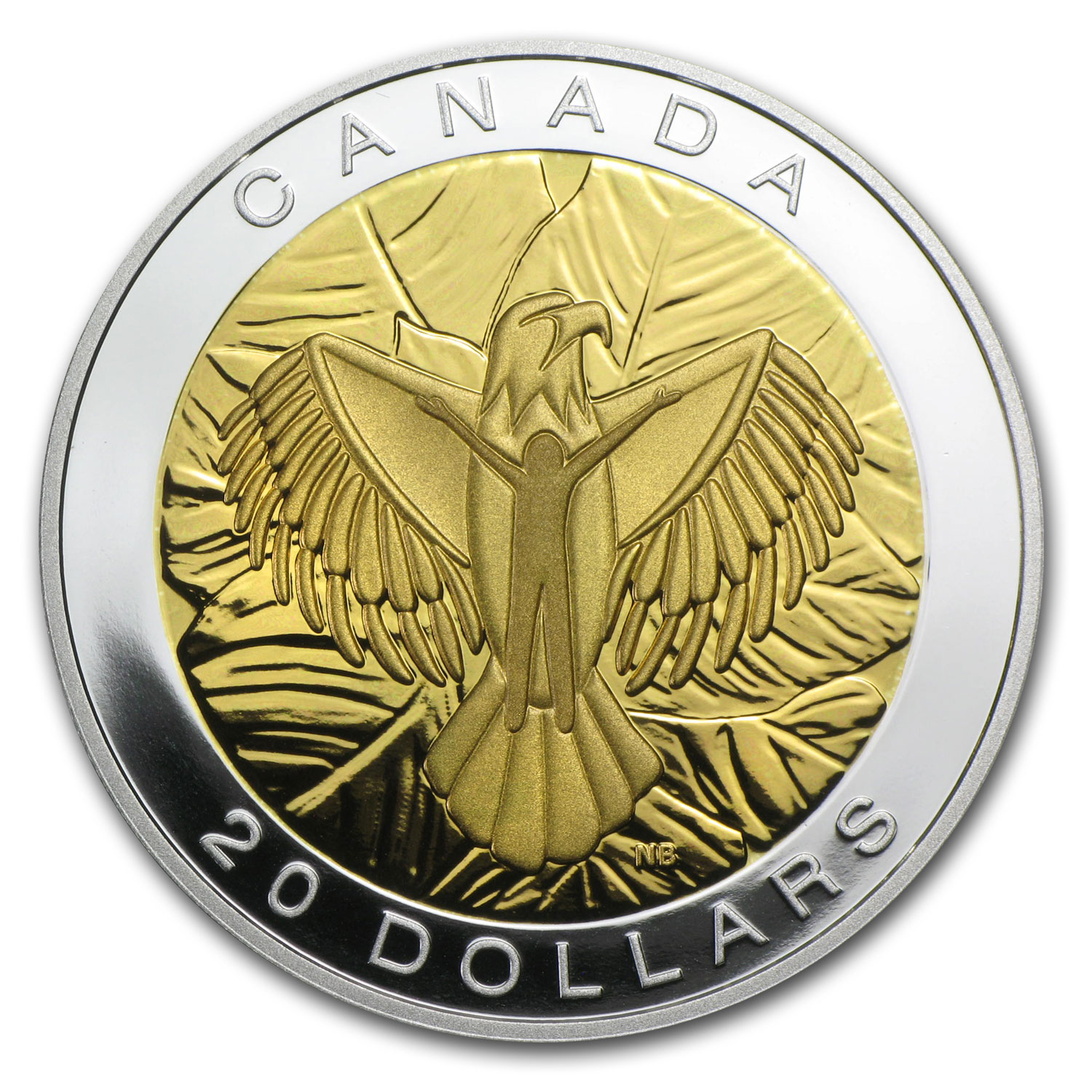 2014 1 oz Silver Canadian $20 The Seven Sacred Teachings (Love)