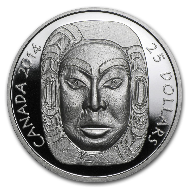 2014 Canada 1 Oz Silver 25 Matriarch Moon Mask Uhr