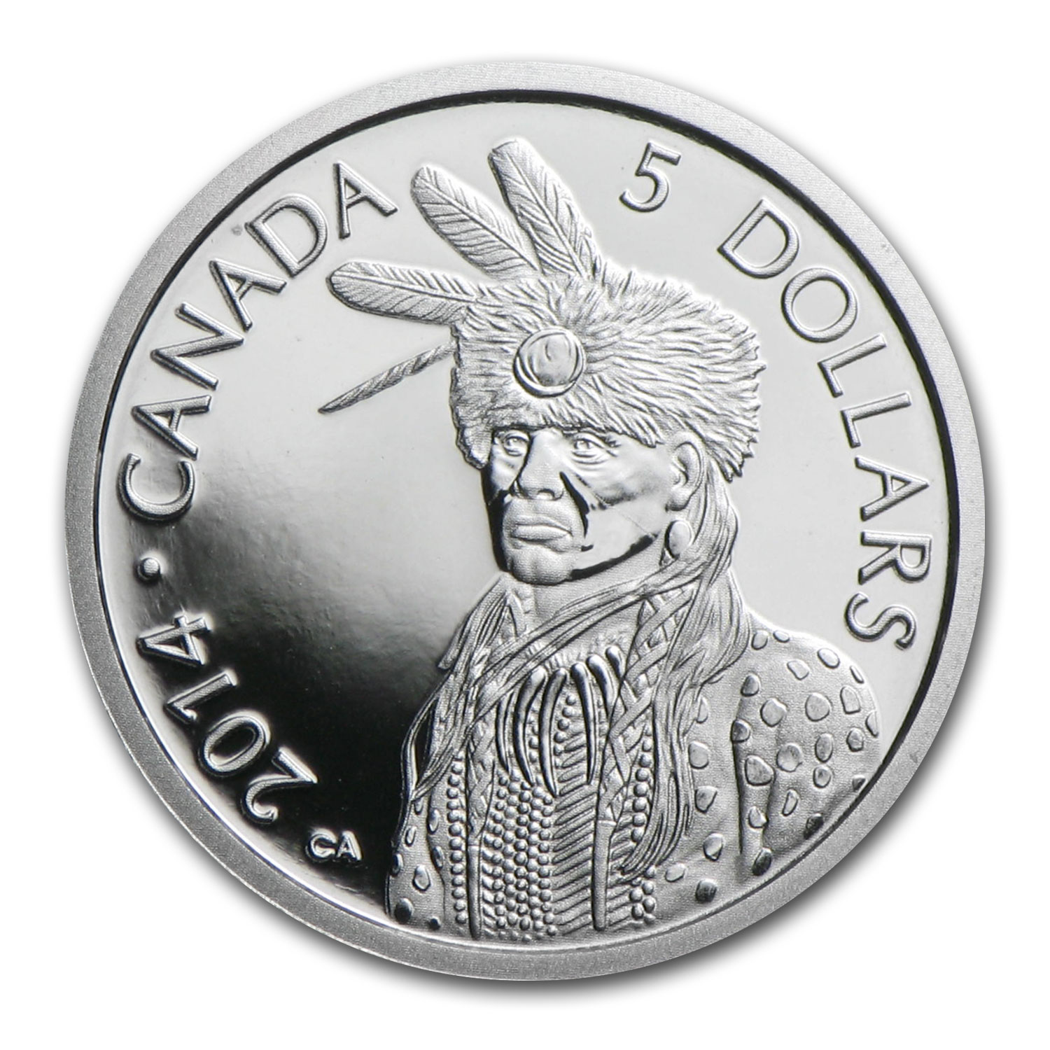 2014 Canada 1/10 oz Proof Platinum $5 Portrait of Nanaboozhoo