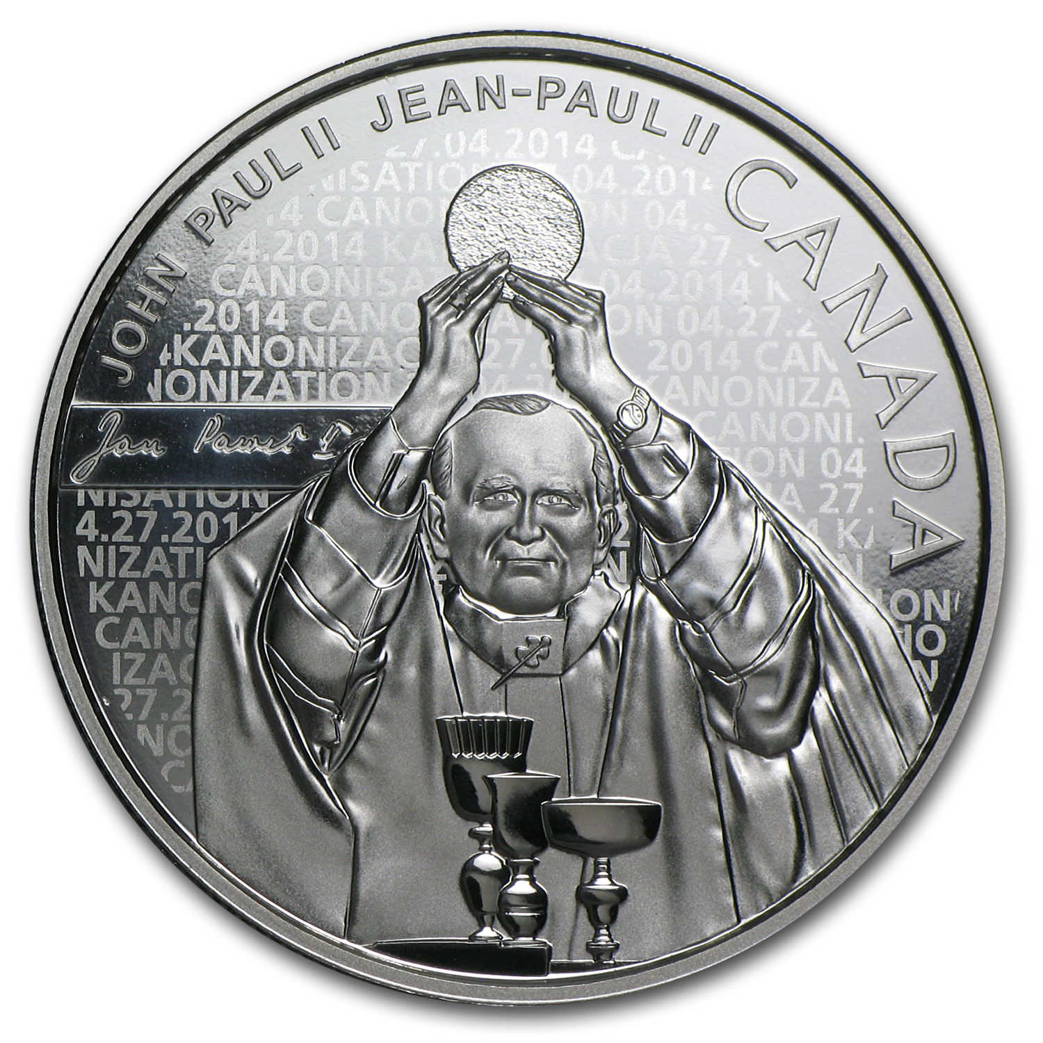 2014 Silver Proof Canadian $10 - Pope John Paul II (W/Box & COA)