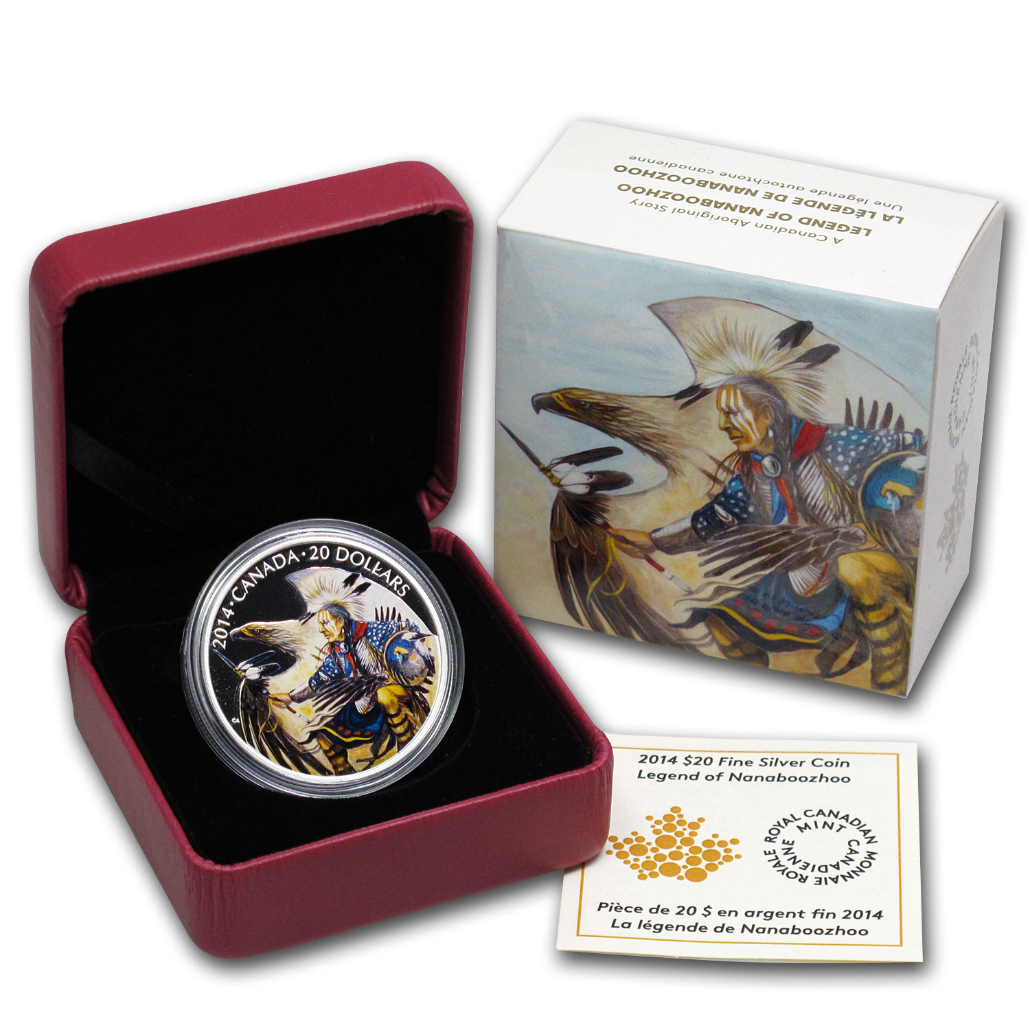2014 1 oz Silver Canadian $20 Legend of Nanaboozhoo (W/Box & COA)