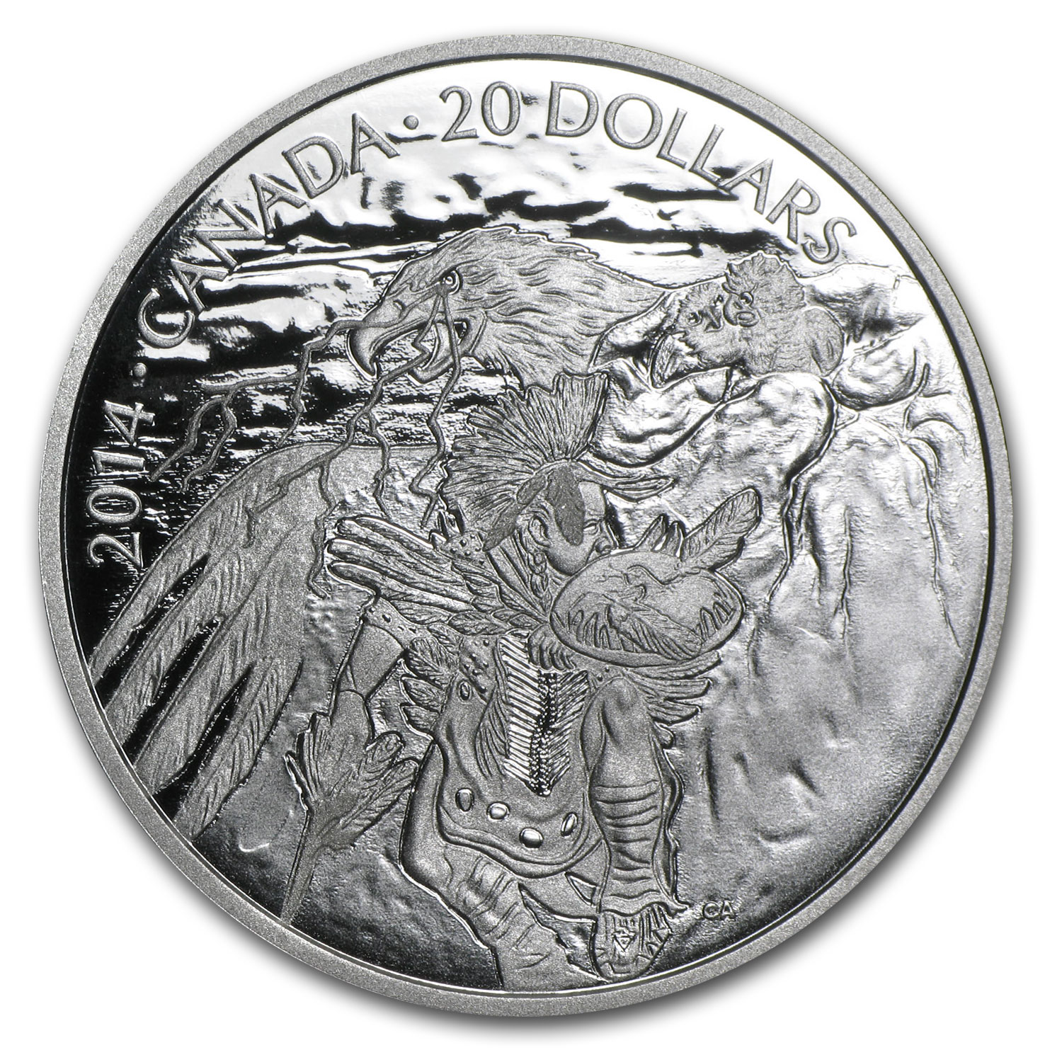 2014 1 oz Silver Canadian Nanaboozhoo and The Thunderbird's Nest