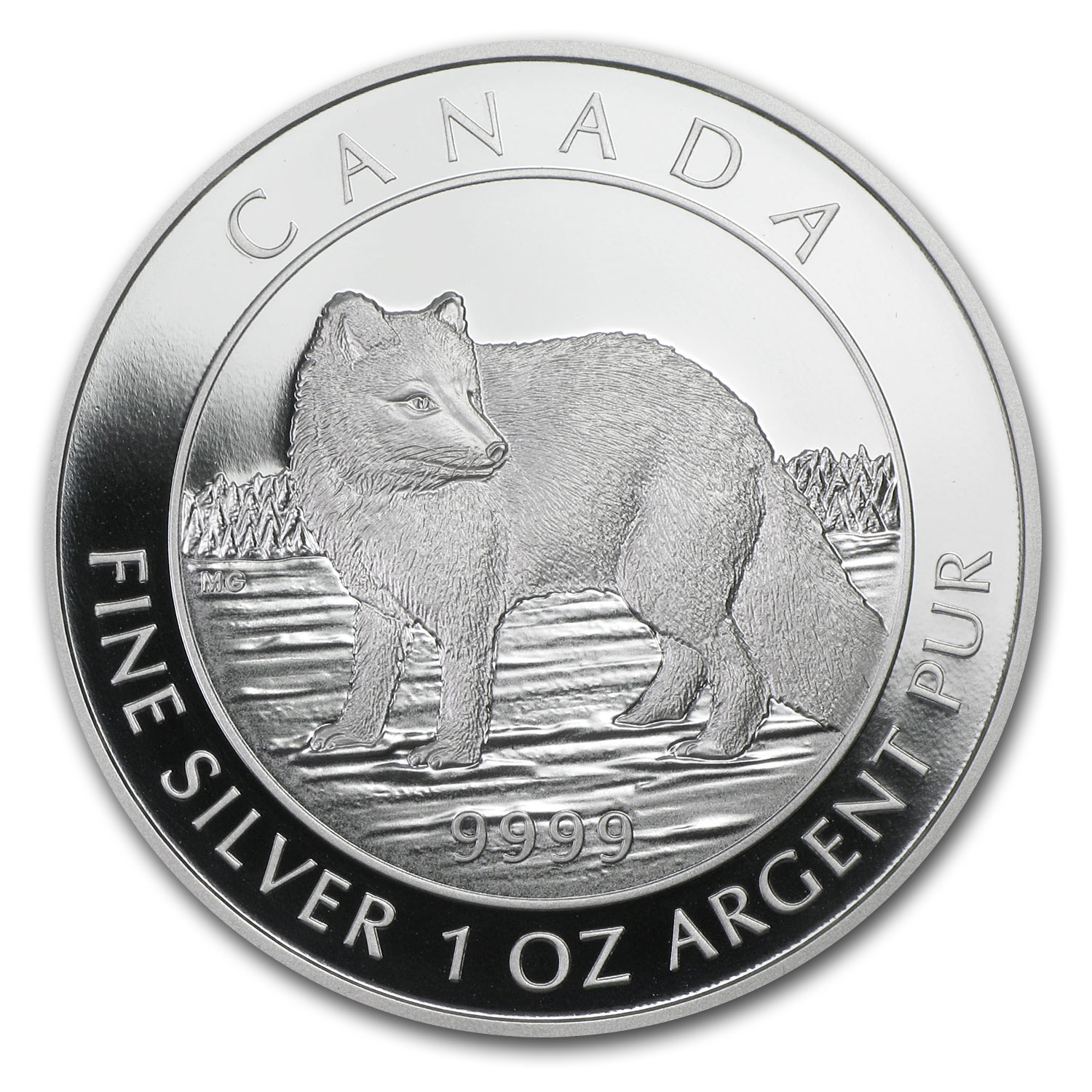 2014 1 oz Silver Canadian $5 Coin - Arctic Fox (W/Box and COA)
