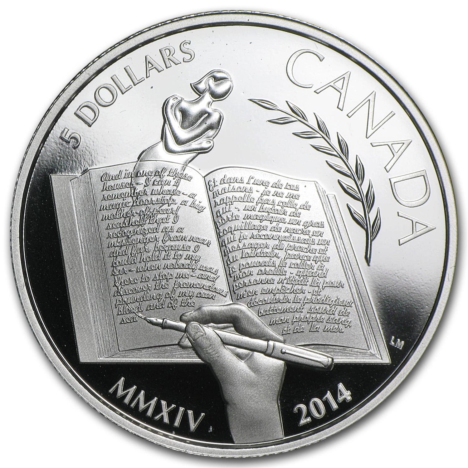 2014 Canada Silver $5 Alice Munro Proof (w/Box & COA)
