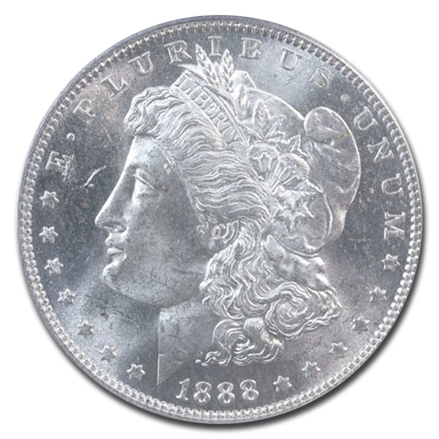 1888-O Morgan Dollar MS-64 PCGS (CAC, Sepia/Rainbow Toning)