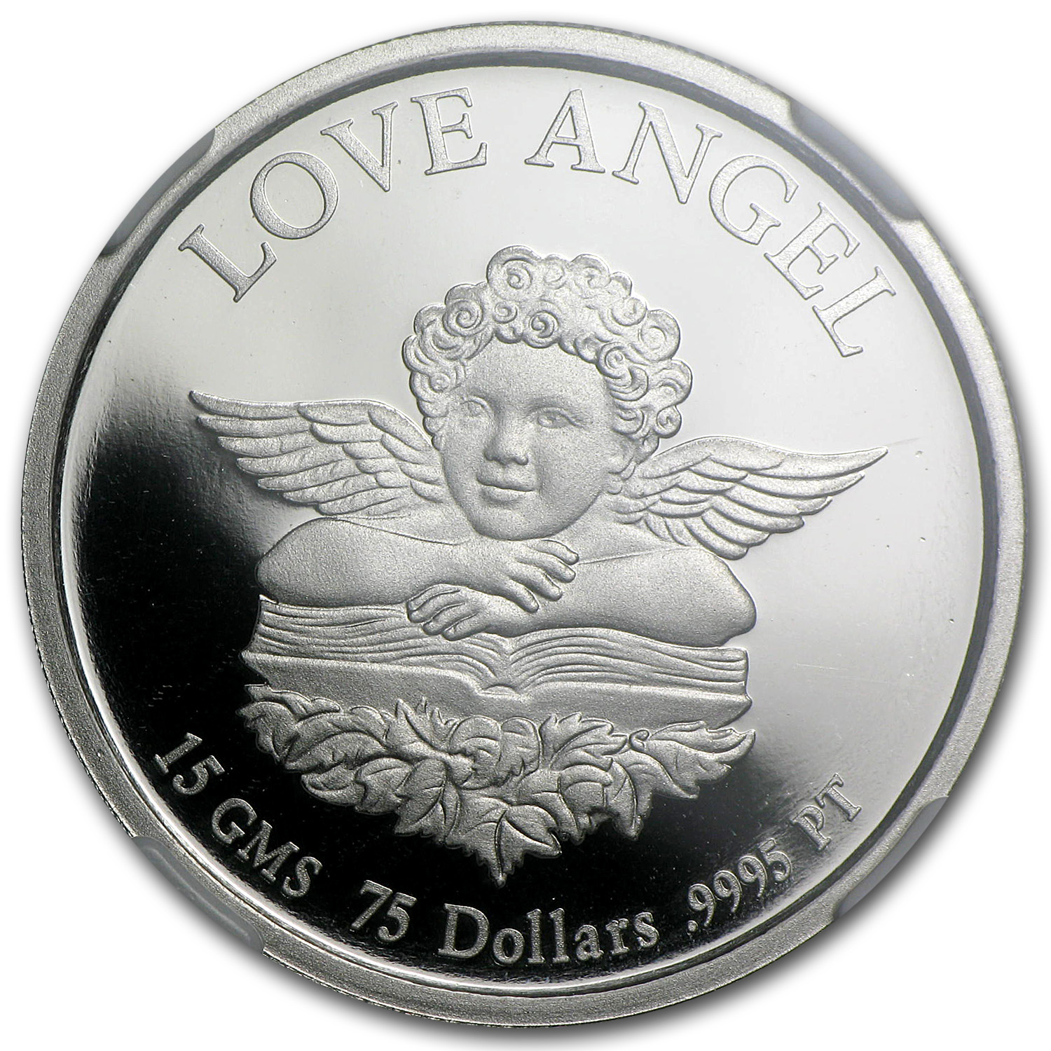 1997 15 gram Cook Islands Platinum Love Angel (PF-69 UCAM NGC)