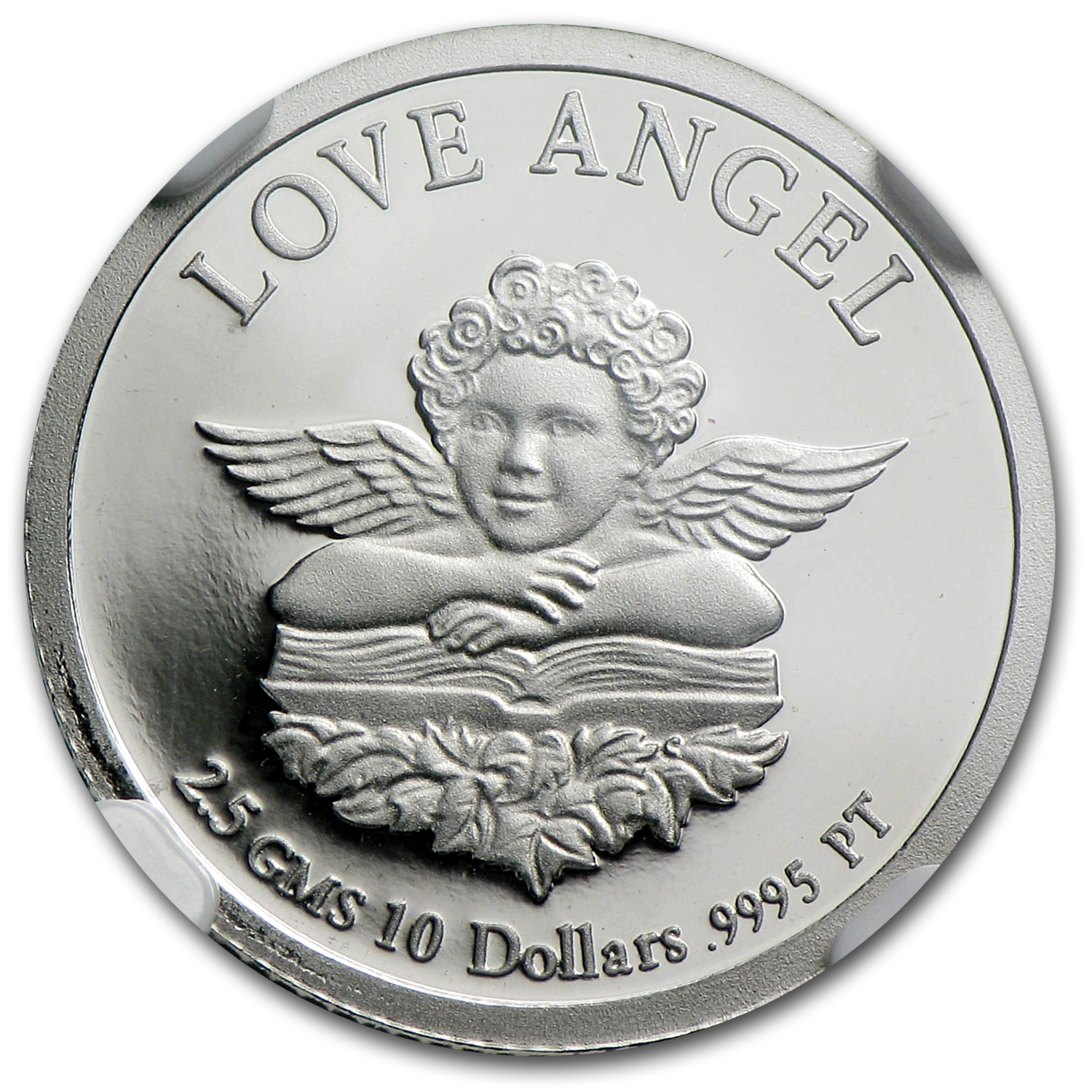1997 2.5 gram Platinum Cook Islands Love Angel PF-69 NGC