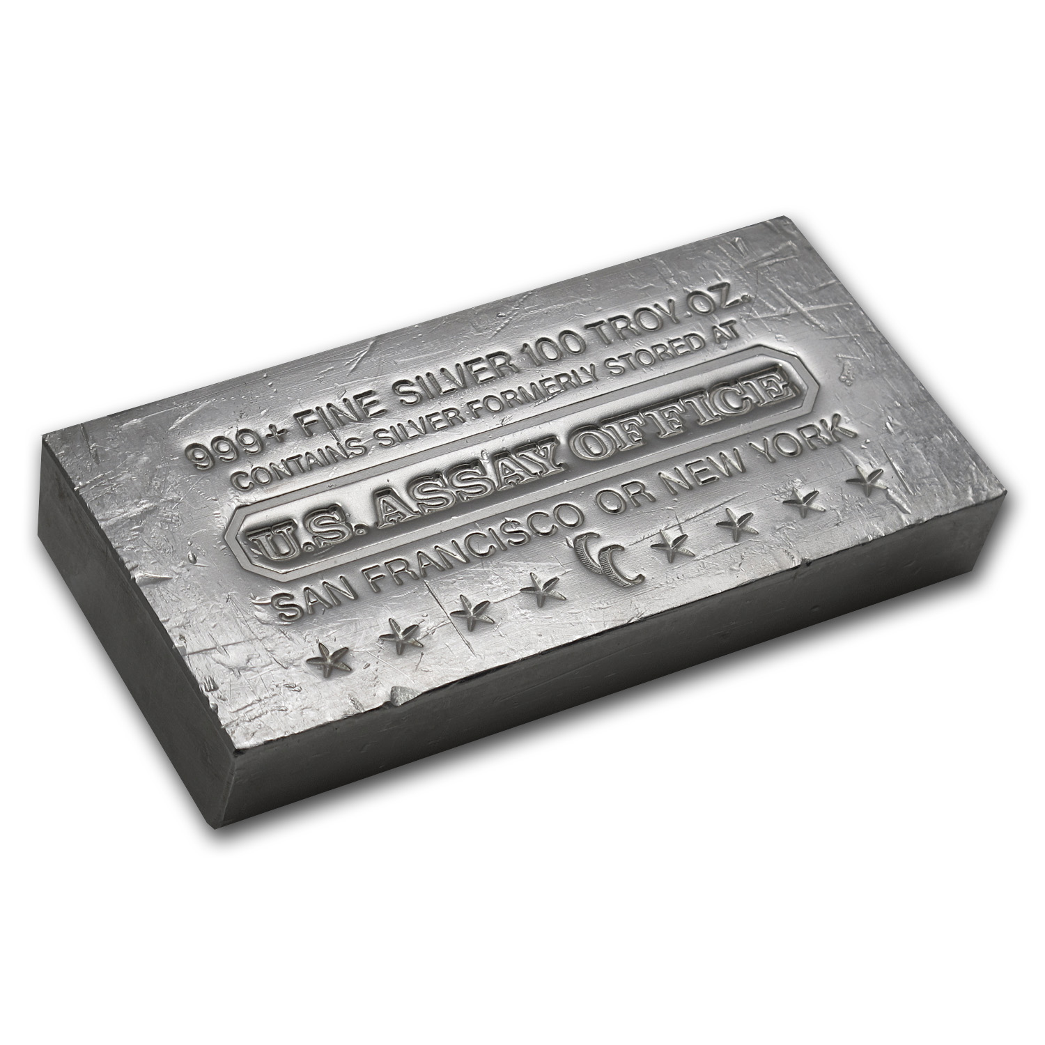 100 oz Silver Bar - U.S. Assay Office (Struck/Scruffy)