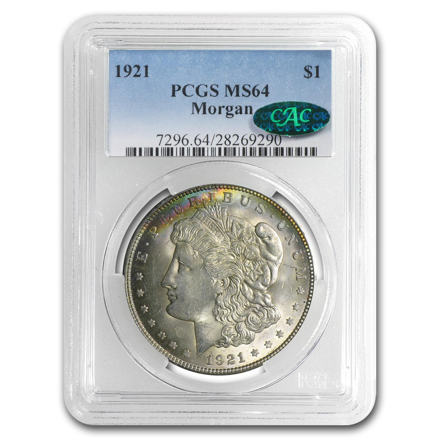 1921 Morgan Dollar - MS-64 PCGS - CAC