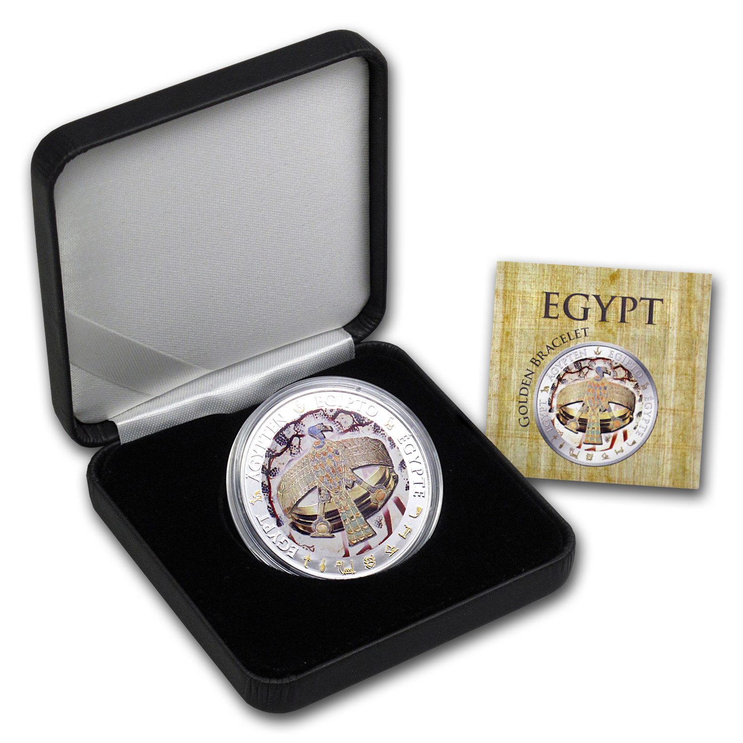 2012 Fiji Proof Silver Egypt Golden Bracelet of Queen Ahhotep