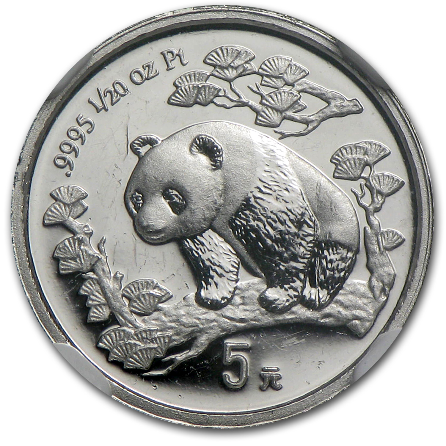 1997 China 1/20 oz Proof Platinum Panda PF-66 NGC