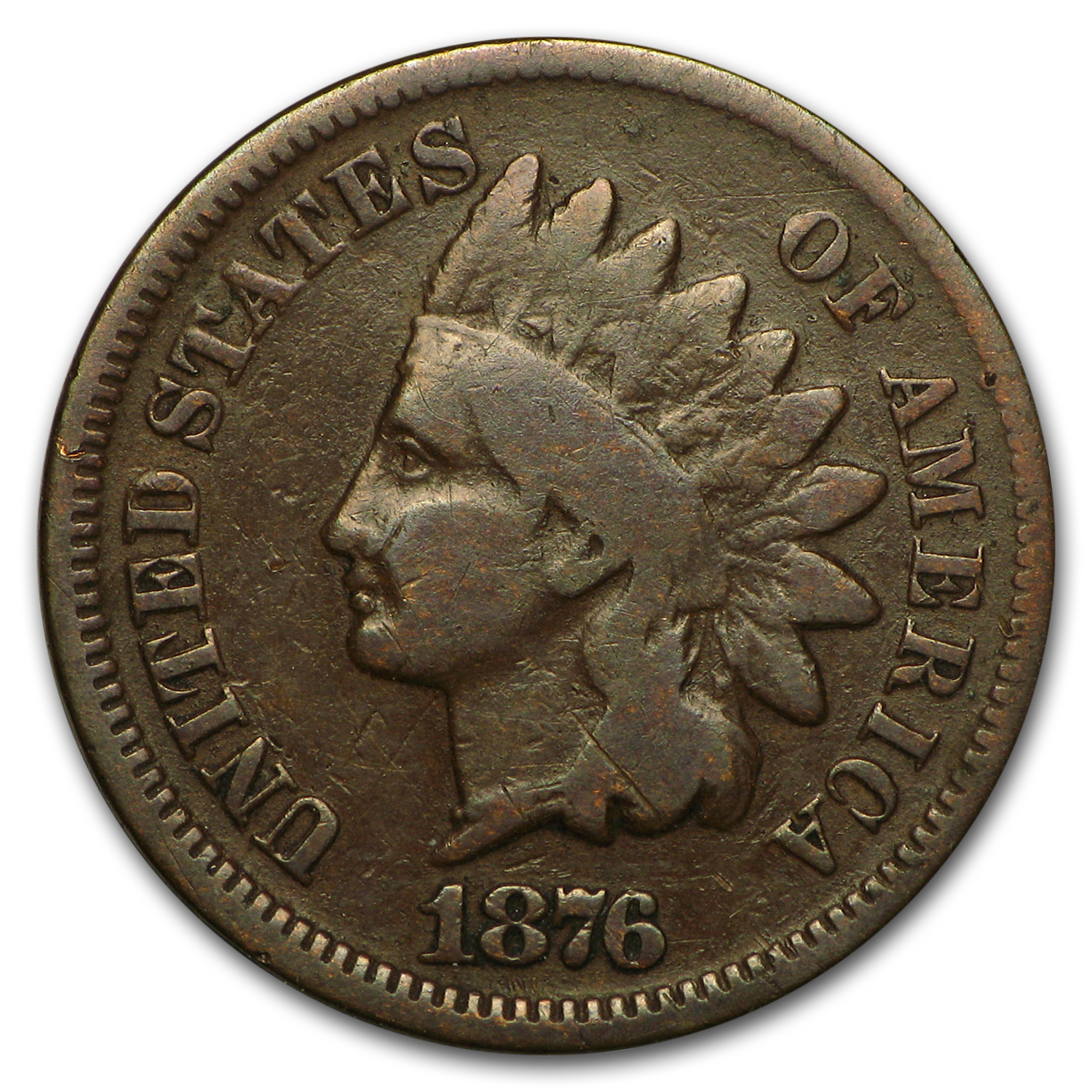 1876 Indian Head Cent Good