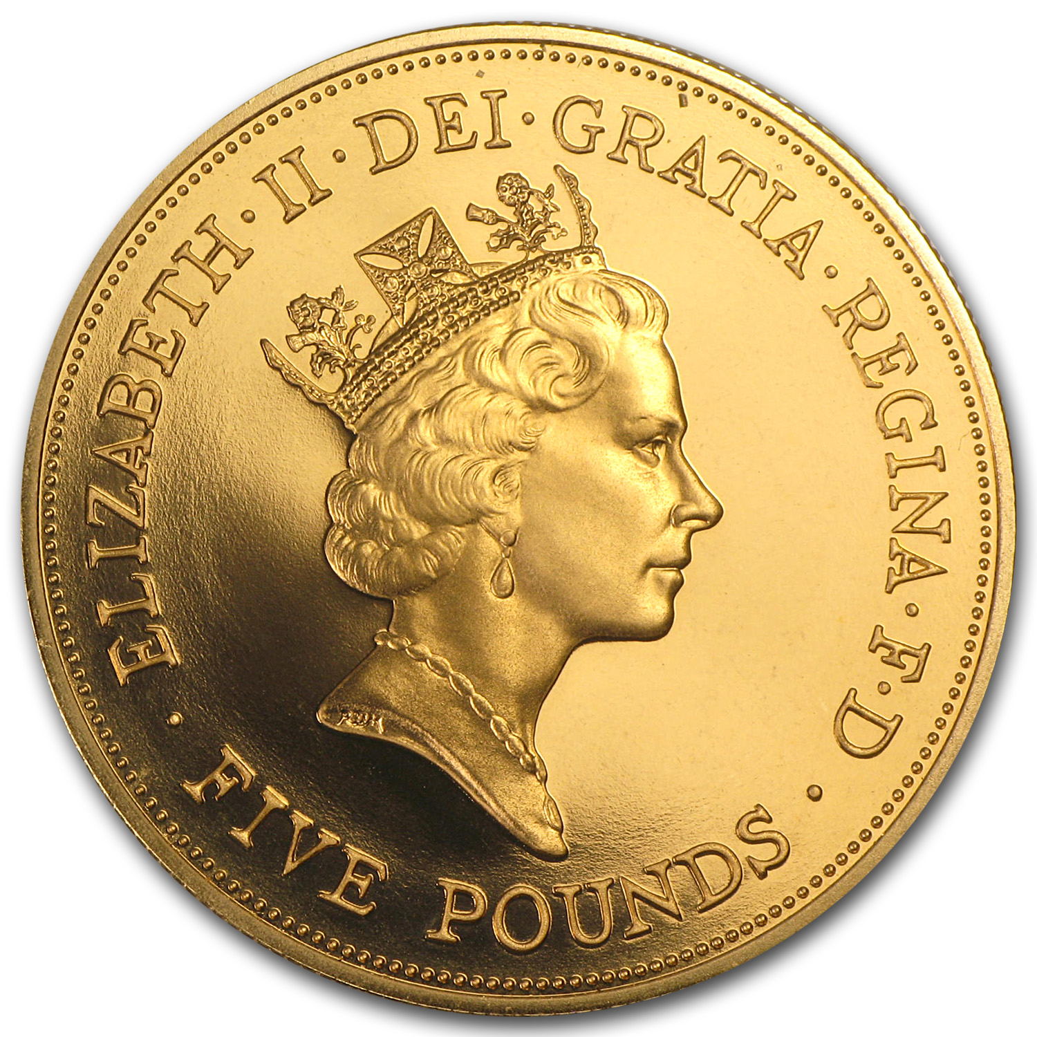 1990 Great Britain Gold £5 Proof Queen Mother