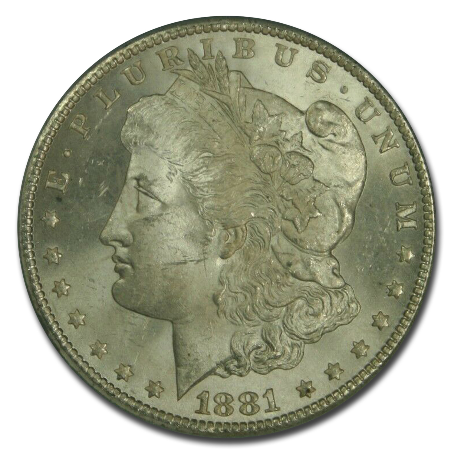 1881-CC Morgan Dollar - MS-63 PCGS - CAC Crescent Toning