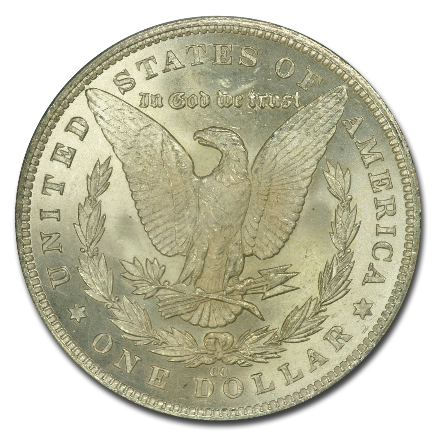 1881-CC Morgan Dollar MS-63 PCGS (CAC, Crescent Toning)