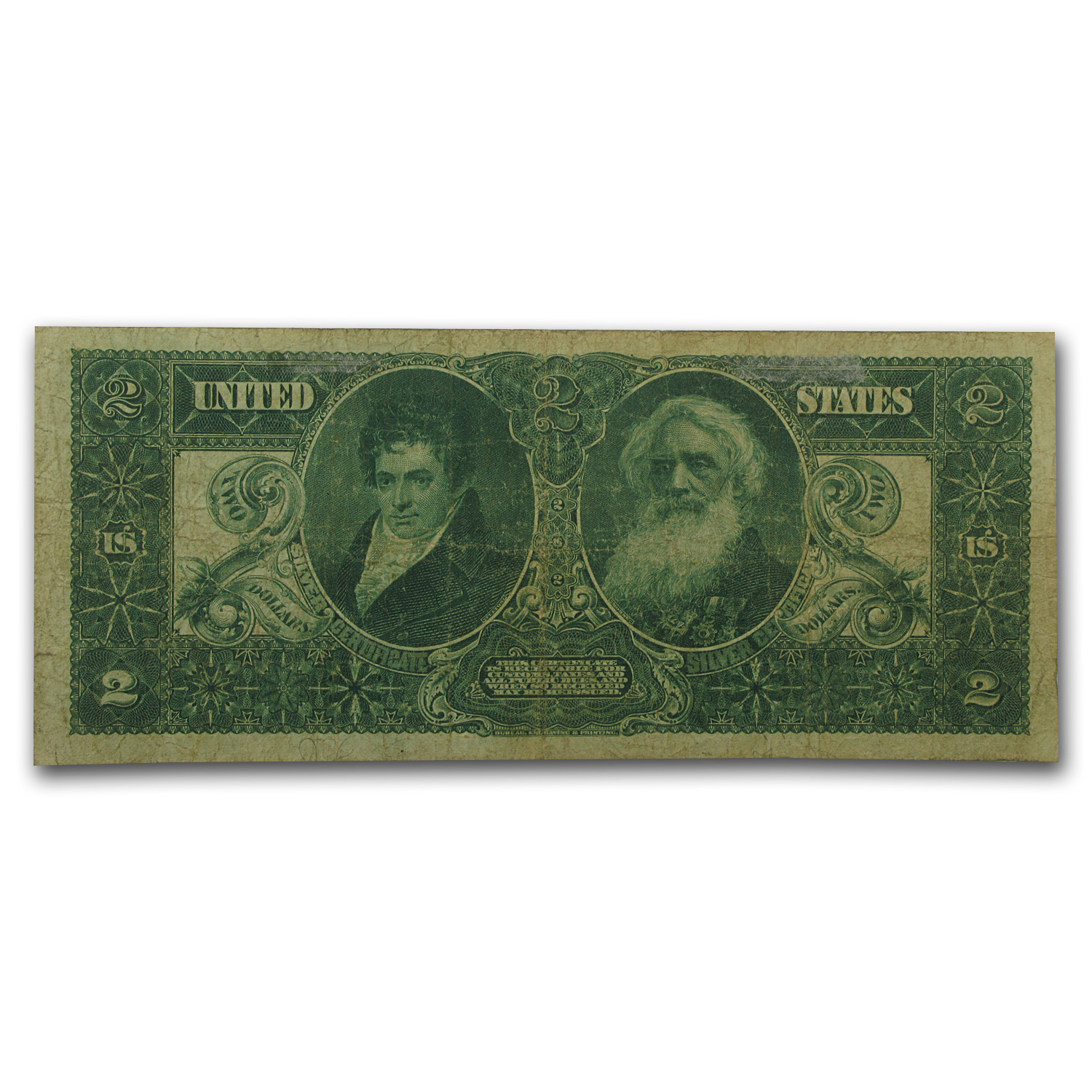 1896 $2 Silver Certificate Educational Note (F/VF)