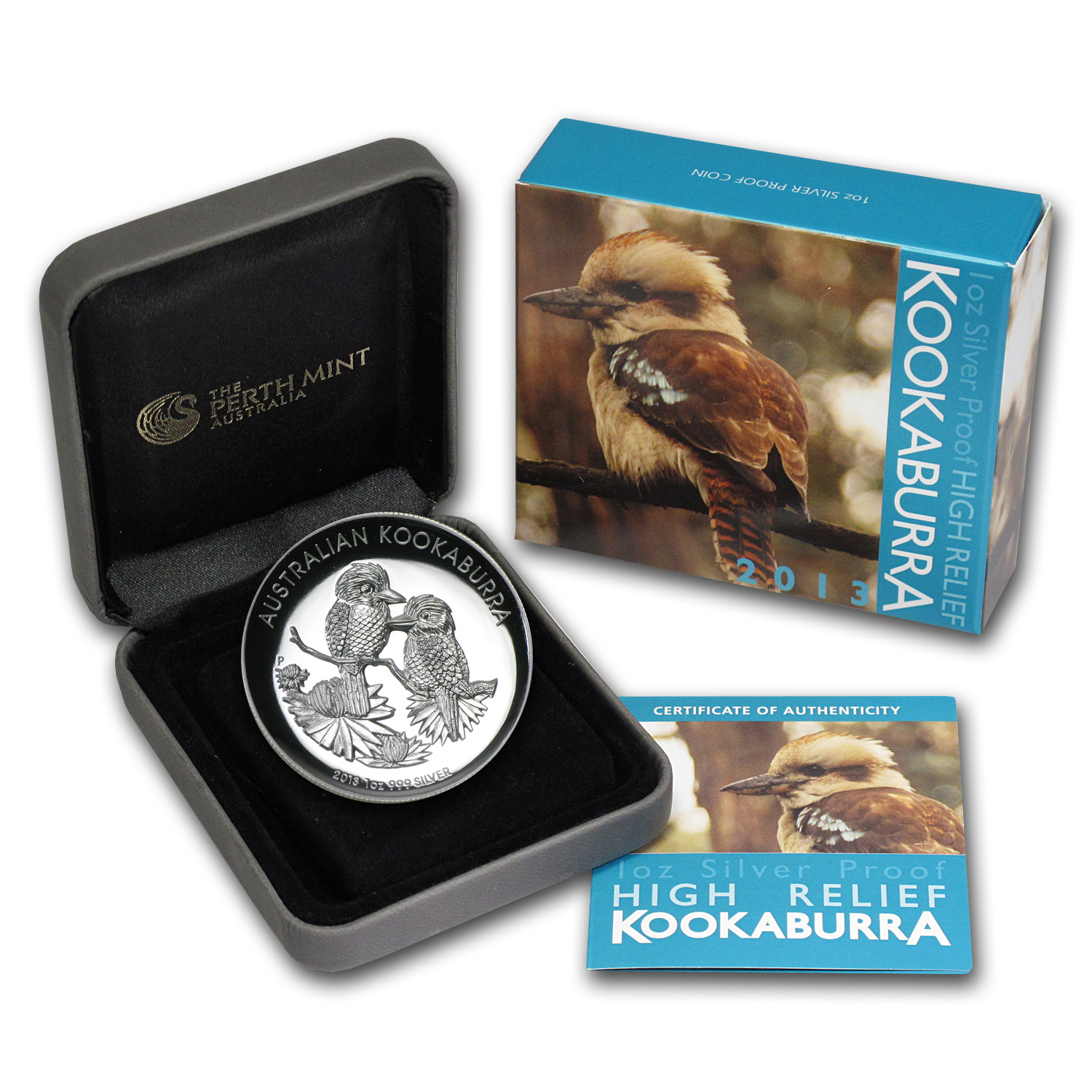 2013 Australia 1 oz Silver Kookaburra Proof (High Relief)