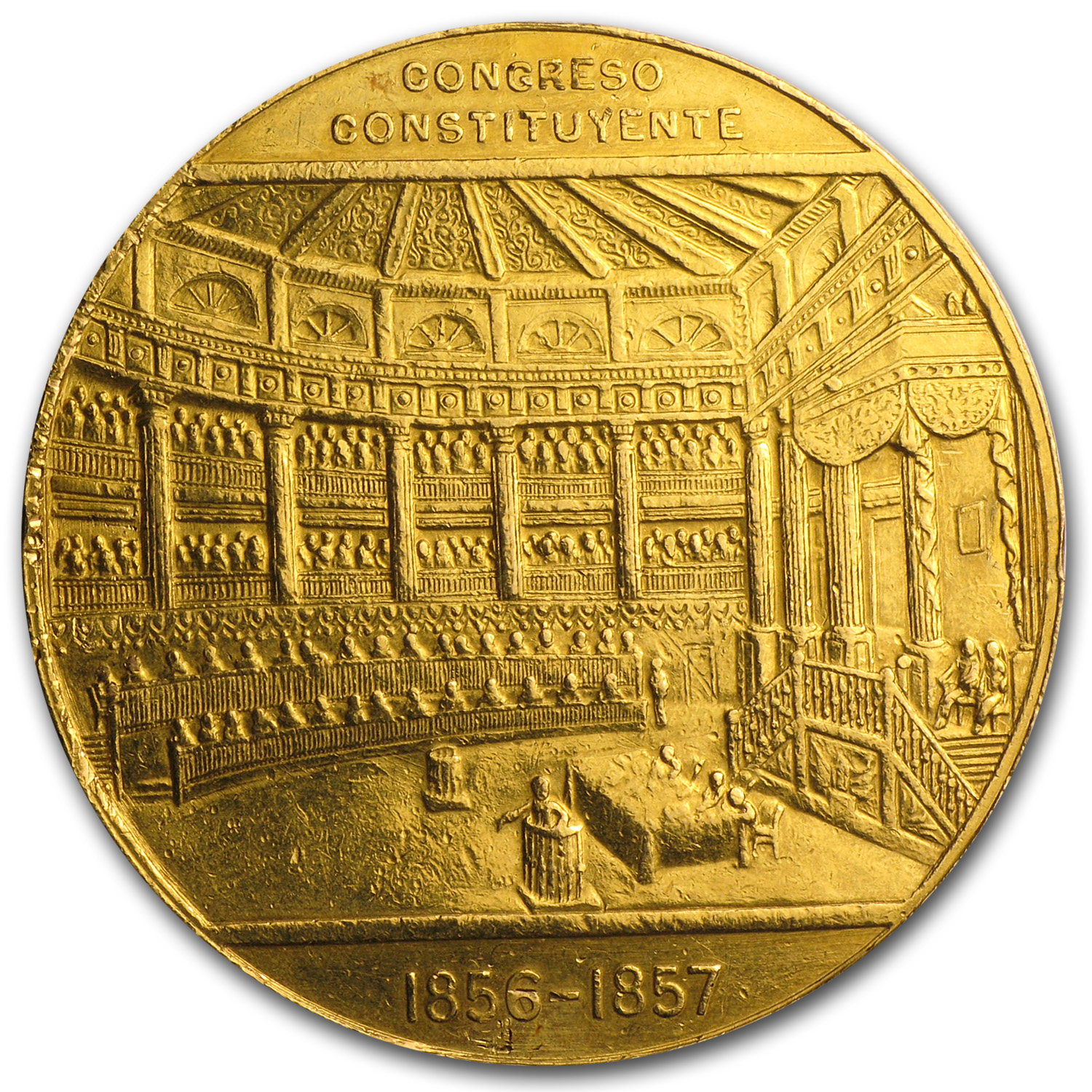 1957 Mexico Gold Centennial of Constitution Medal