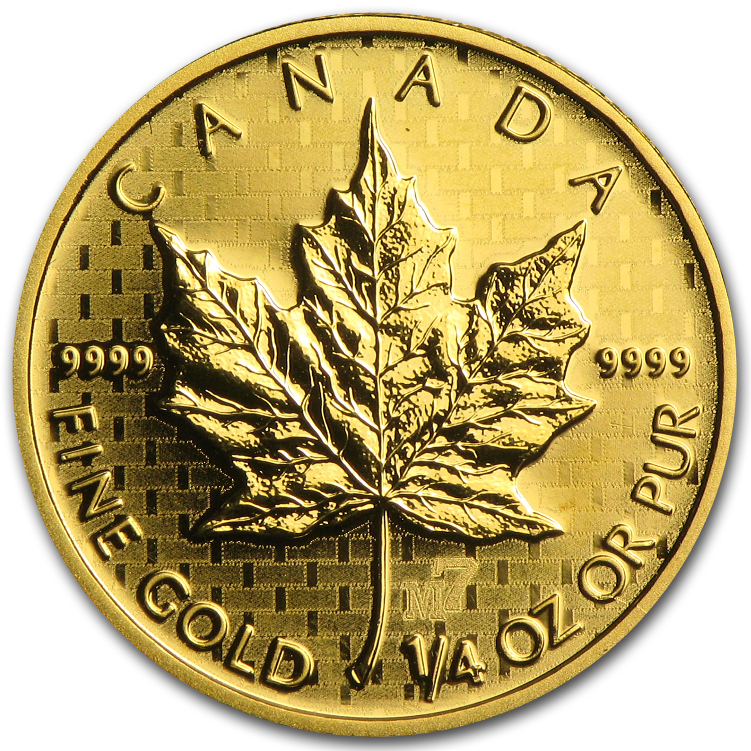 2005 1/4 oz Gold Canadian Maple Leaf M7 Privy