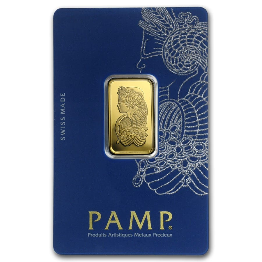10 gram Gold Bar - PAMP Suisse Lady Fortuna Veriscan (In Assay)