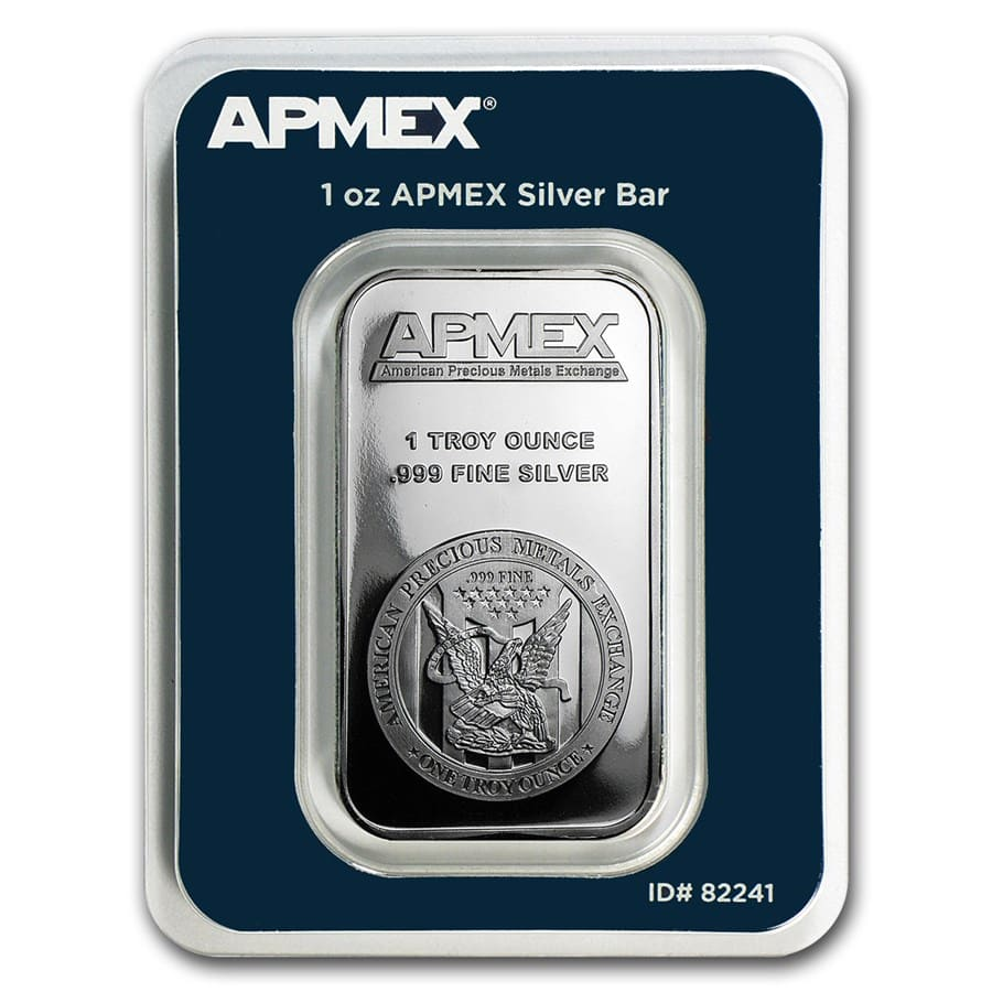 1 oz Silver Bar - APMEX (In TEP Package)