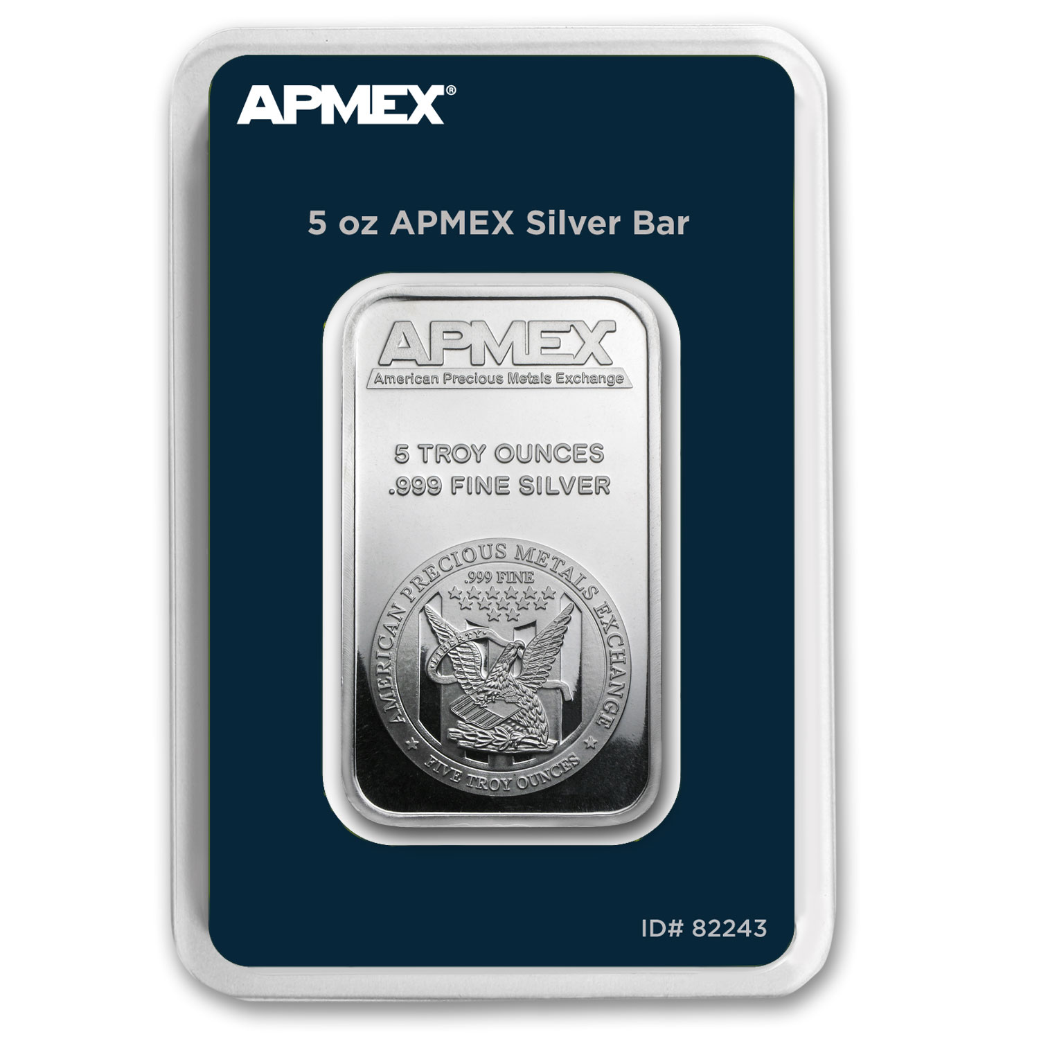 5 oz Silver Bar - APMEX (TEP Packaging)
