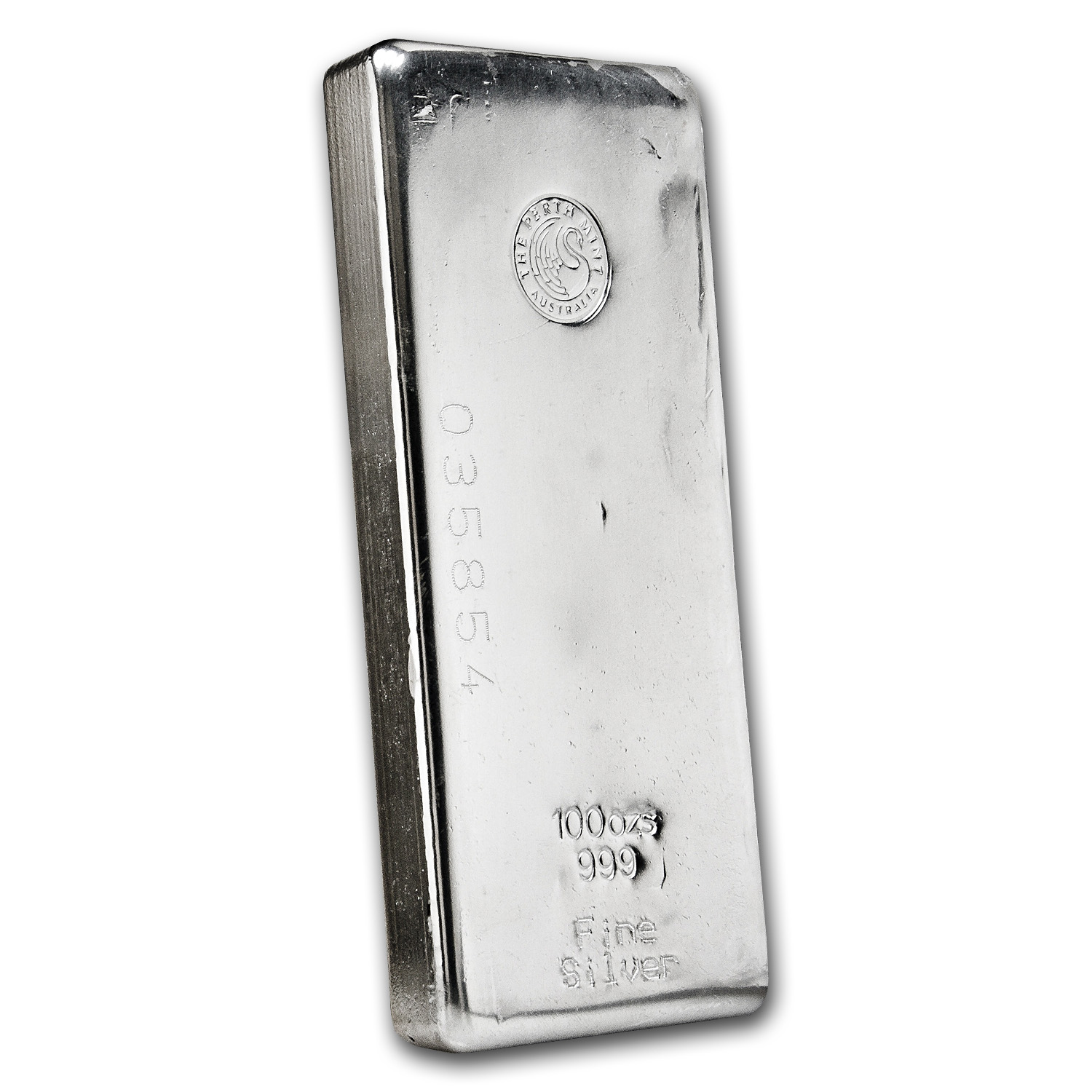 100 oz Silver Bars - Perth Mint