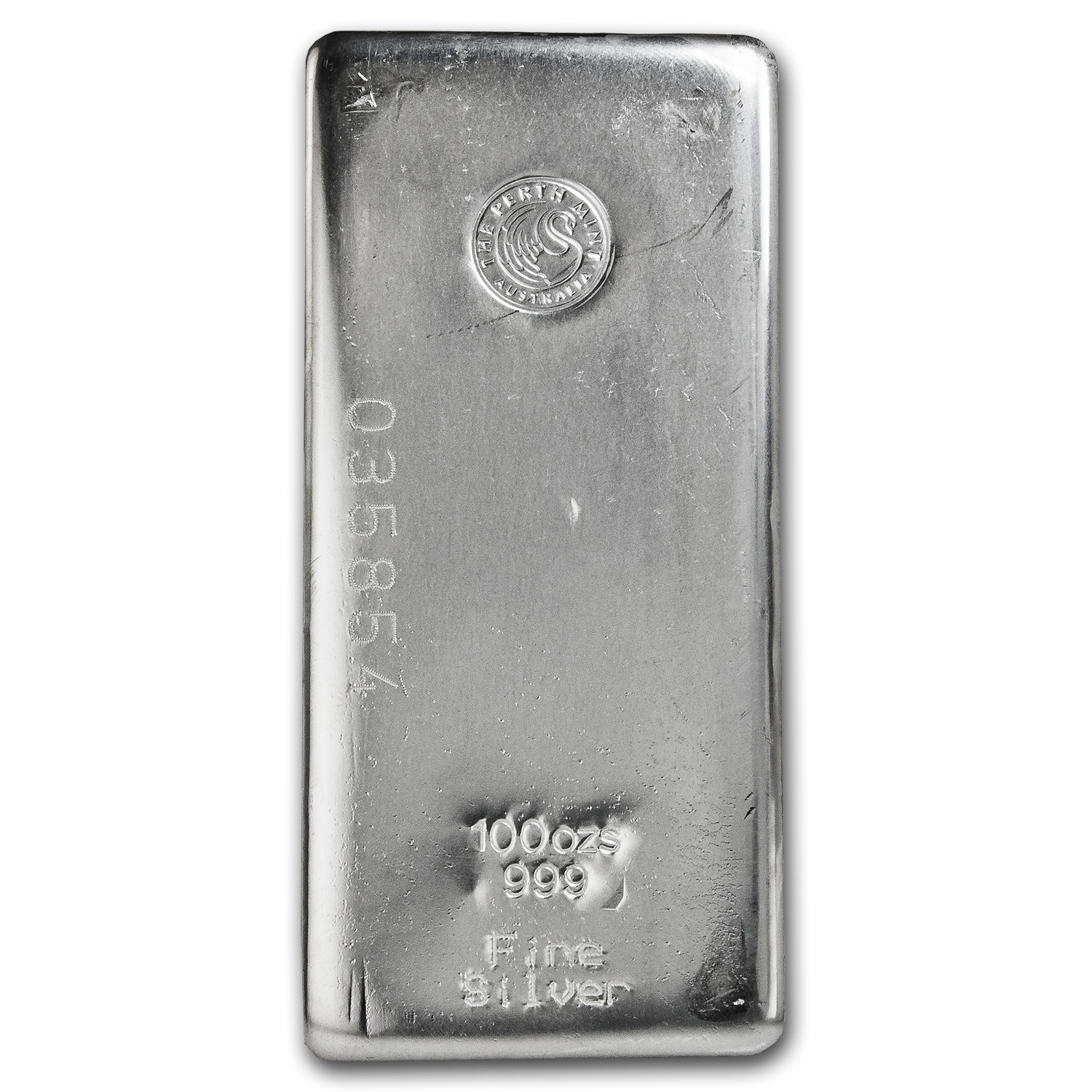 100 oz Silver Bar - Perth Mint