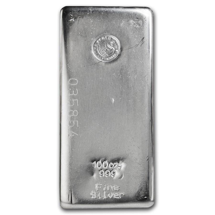 100 Oz Silver Bar Perth Mint Silver Coins And Bars