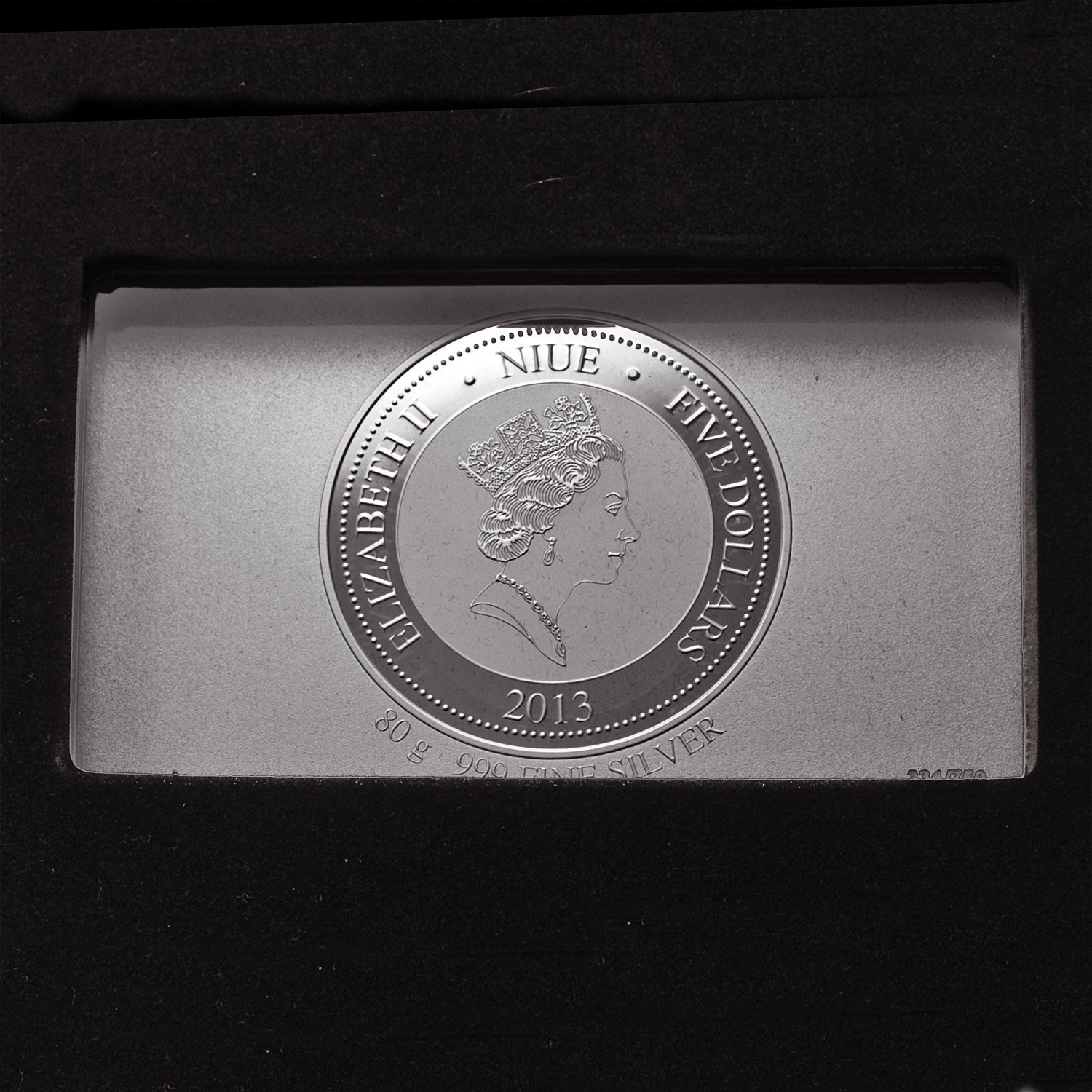 2013 Niue 30.86 oz Silver Giants of Art - The Creation of Adam