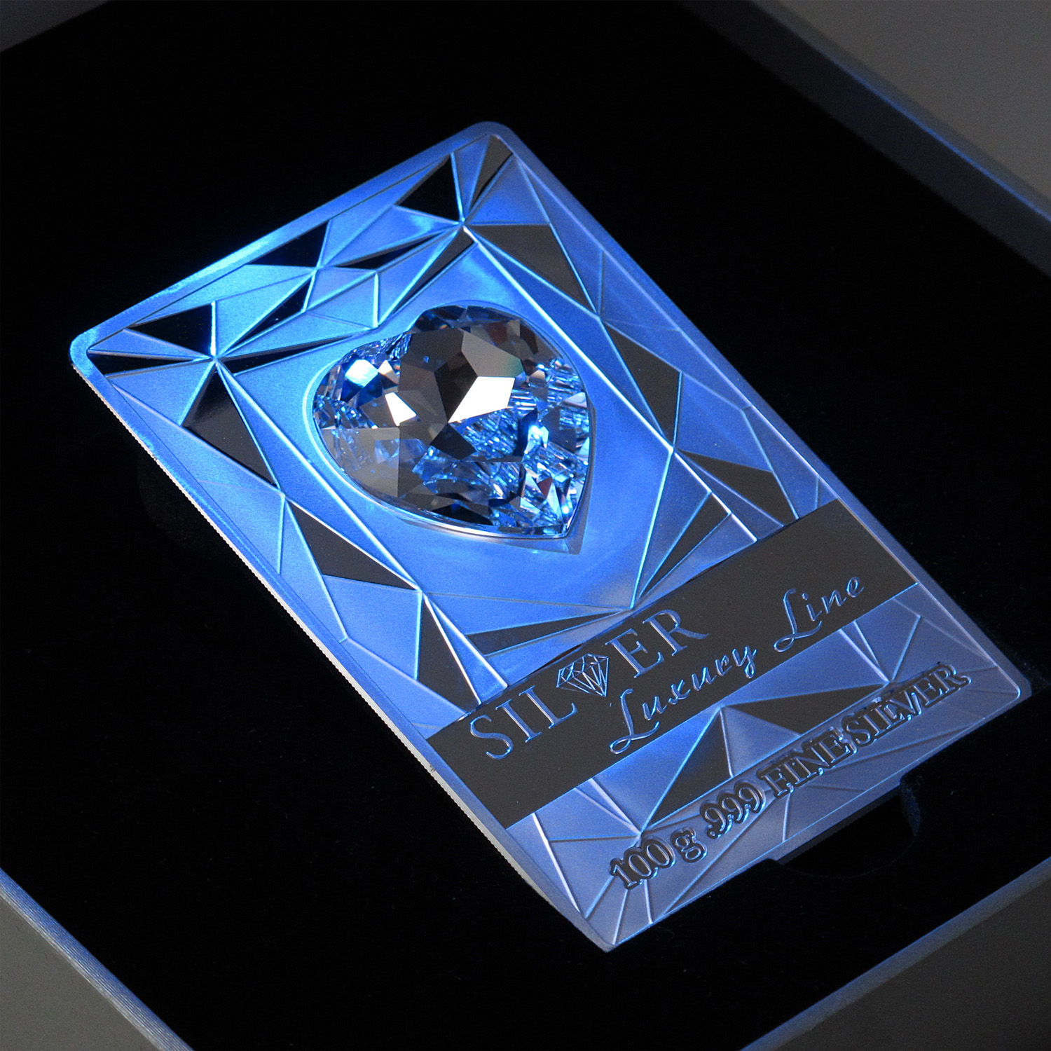 2014 Cook Islands Proof Silver $20 Luxury Line Swarovski Crystal