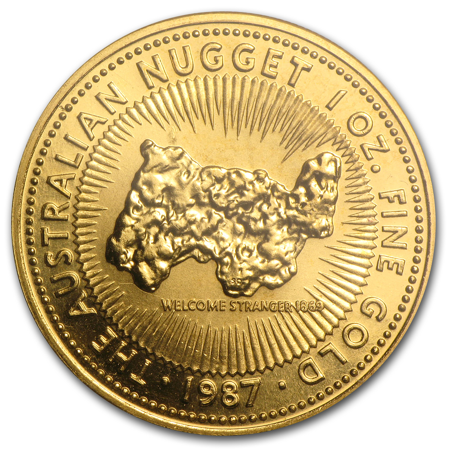 1987 1 oz Australian Gold Nugget