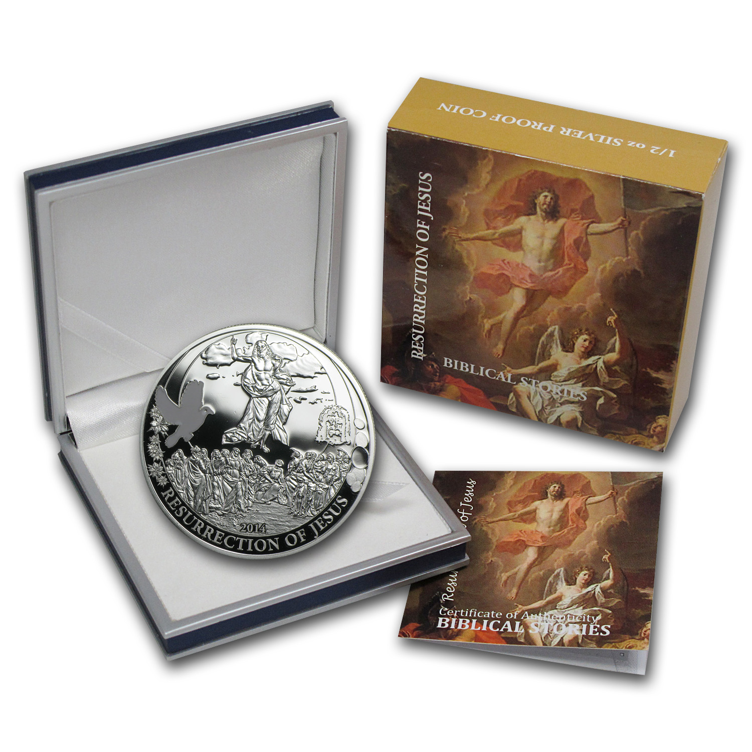 Palau 2014 Proof Silver Biblical Stories - Resurrection of Jesus