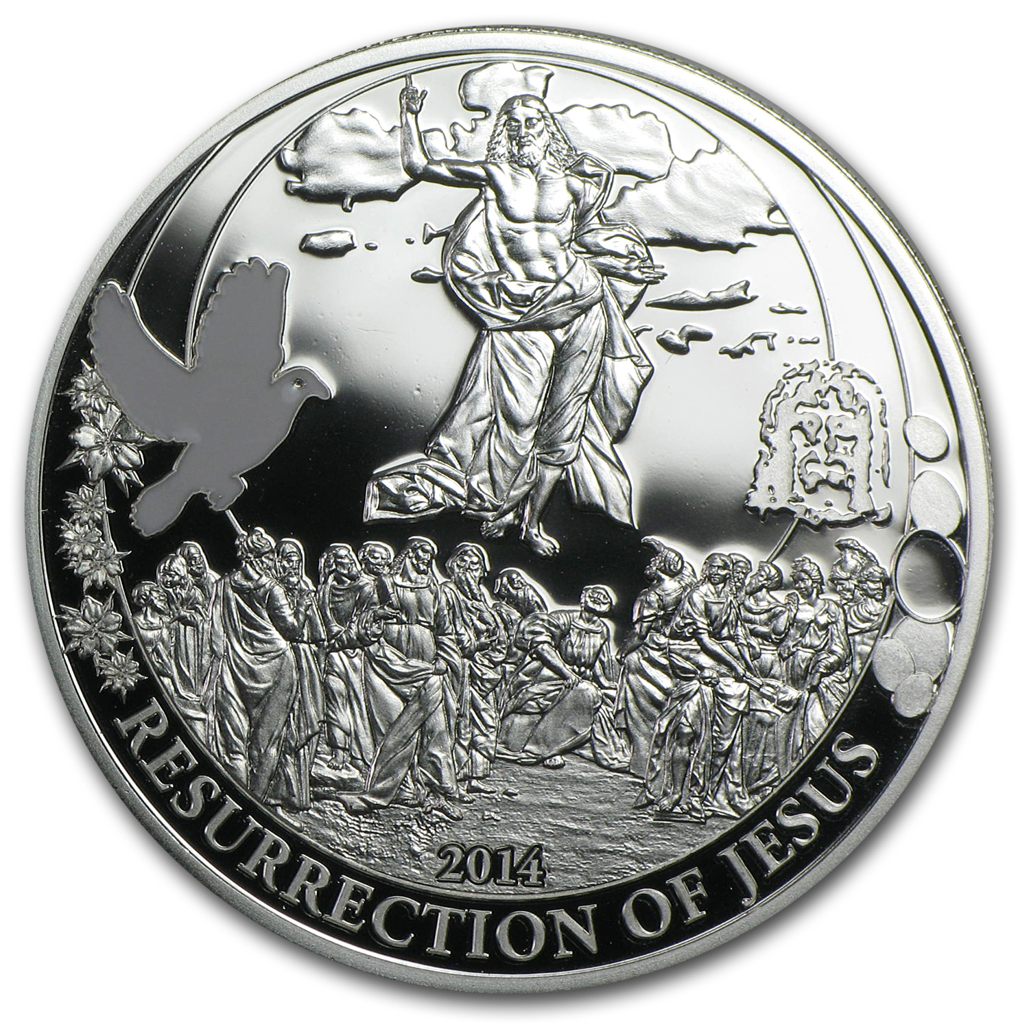 2014 Palau Proof Silver Biblical Stories Resurrection of Jesus