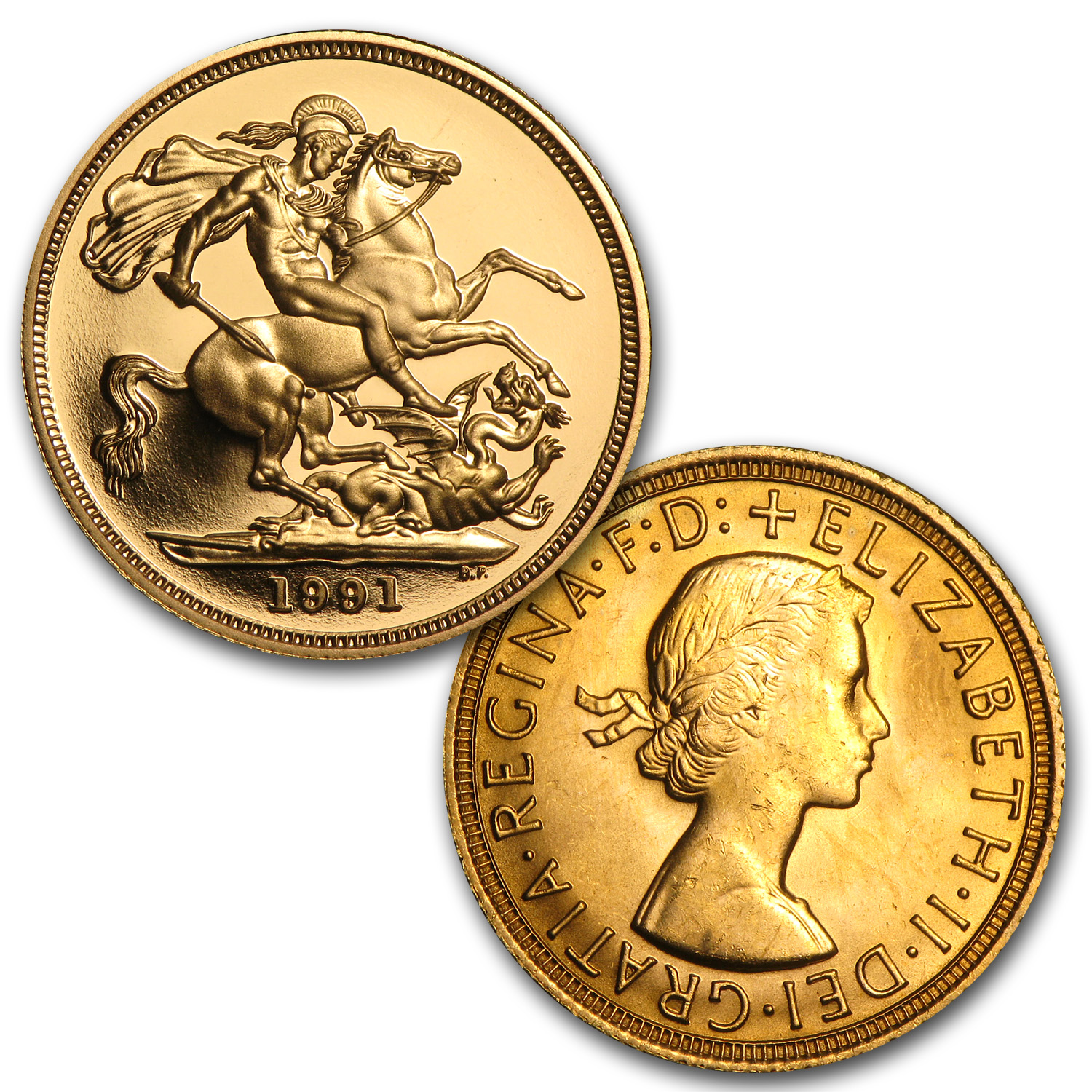 Great Britain Gold Sovereign Elizabeth II 3 Coin Portrait Set
