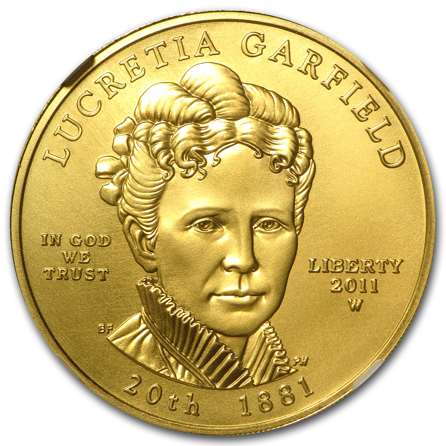 2011-W 1/2 oz Gold Lucretia Garfield NGC MS-70