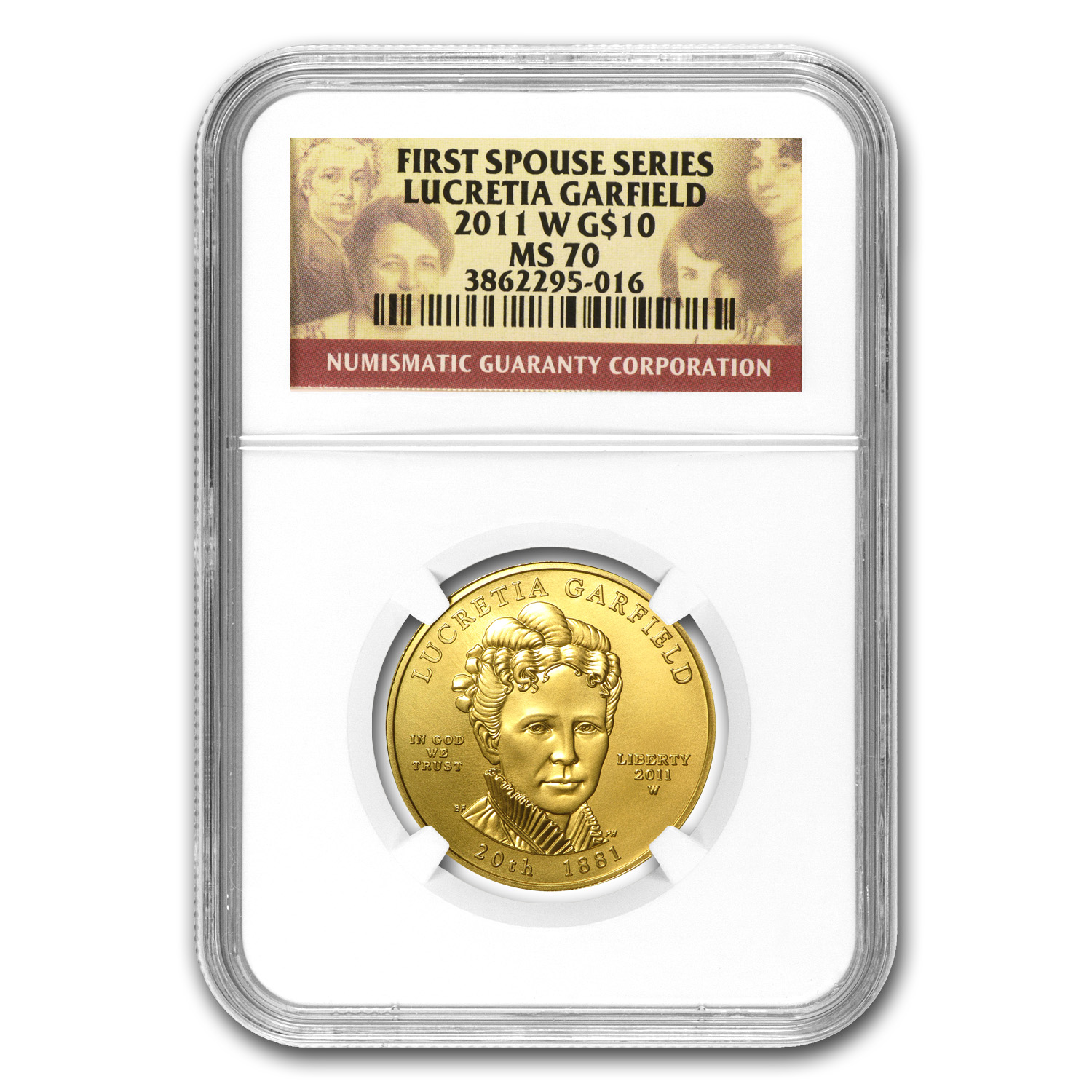 2011-W 1/2 oz Gold Lucretia Garfield MS-70 NGC