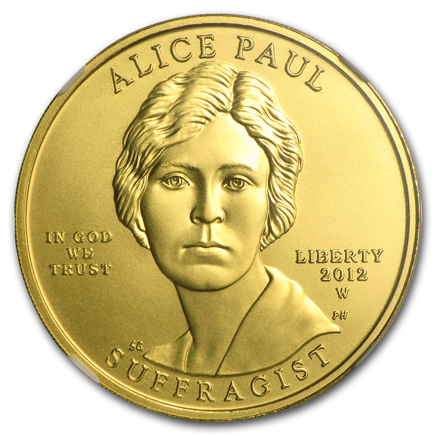 2012-W 1/2oz Uncirculated Gold Alice Paul MS-70 NGC