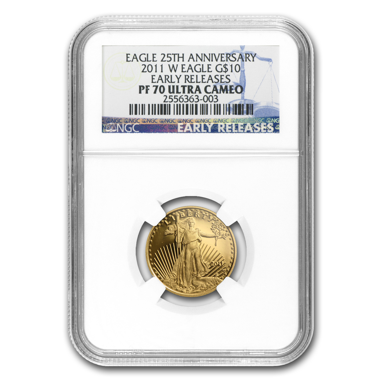 2011-W 4-Coin Proof Gold American Eagle ER PF-70 NGC