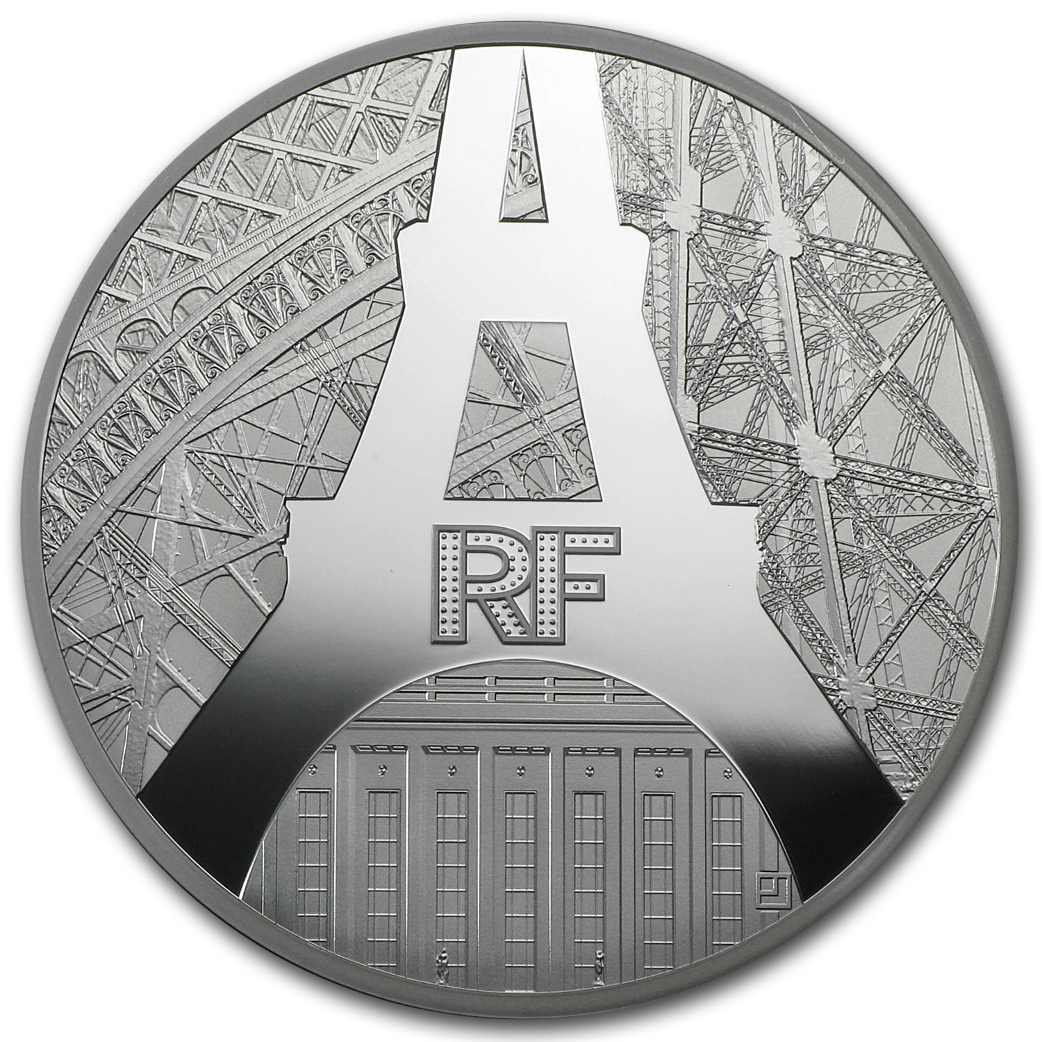2014 5 oz Silver €50 Eiffel Tower & Palais de Chaillot Proof