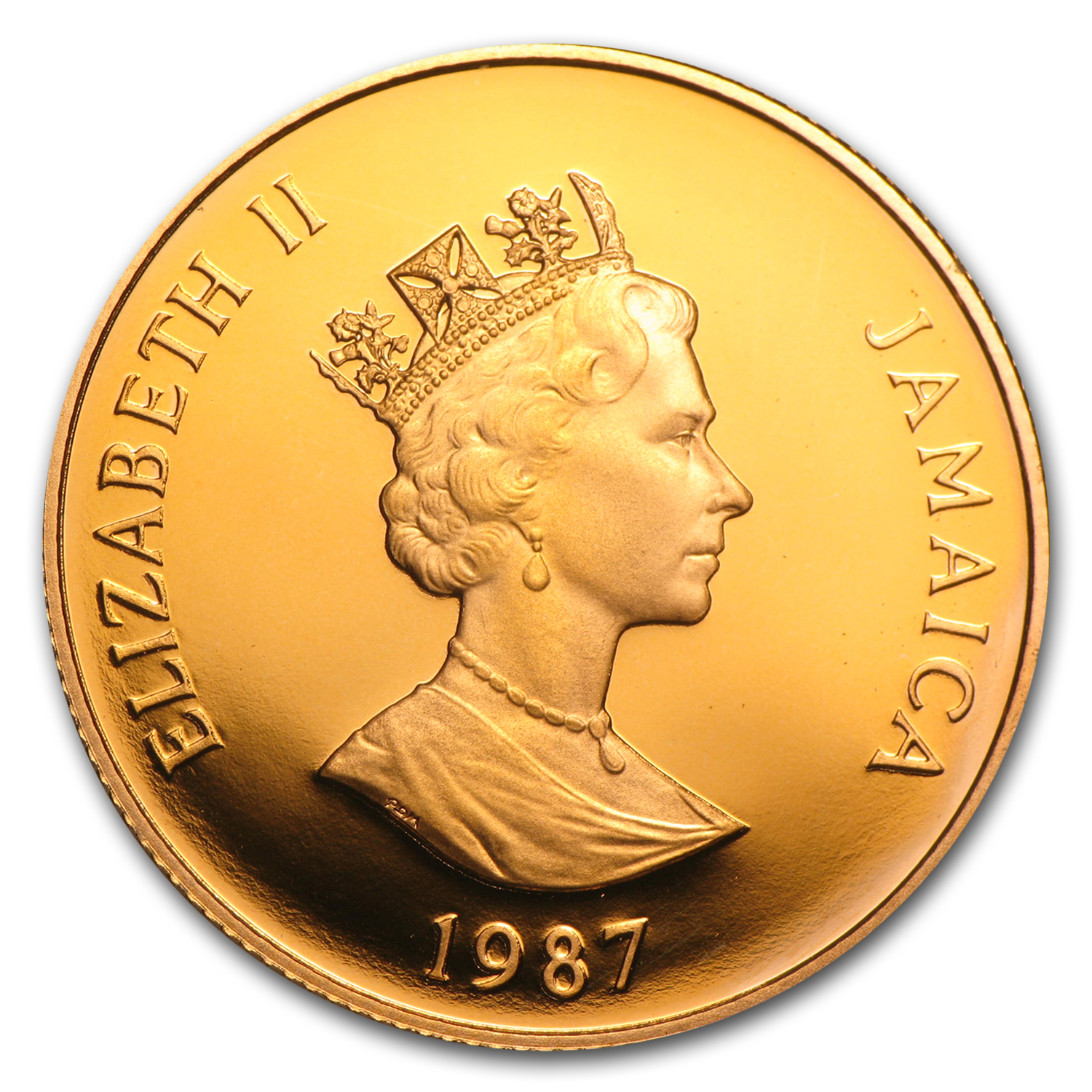 1987 Jamaica Proof Gold $250 Independence